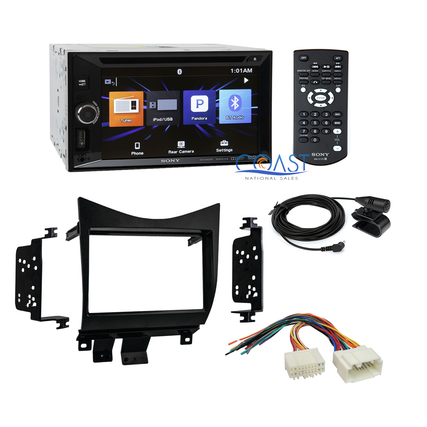 sony double din car radio stereo dash kit wire harness for. Black Bedroom Furniture Sets. Home Design Ideas