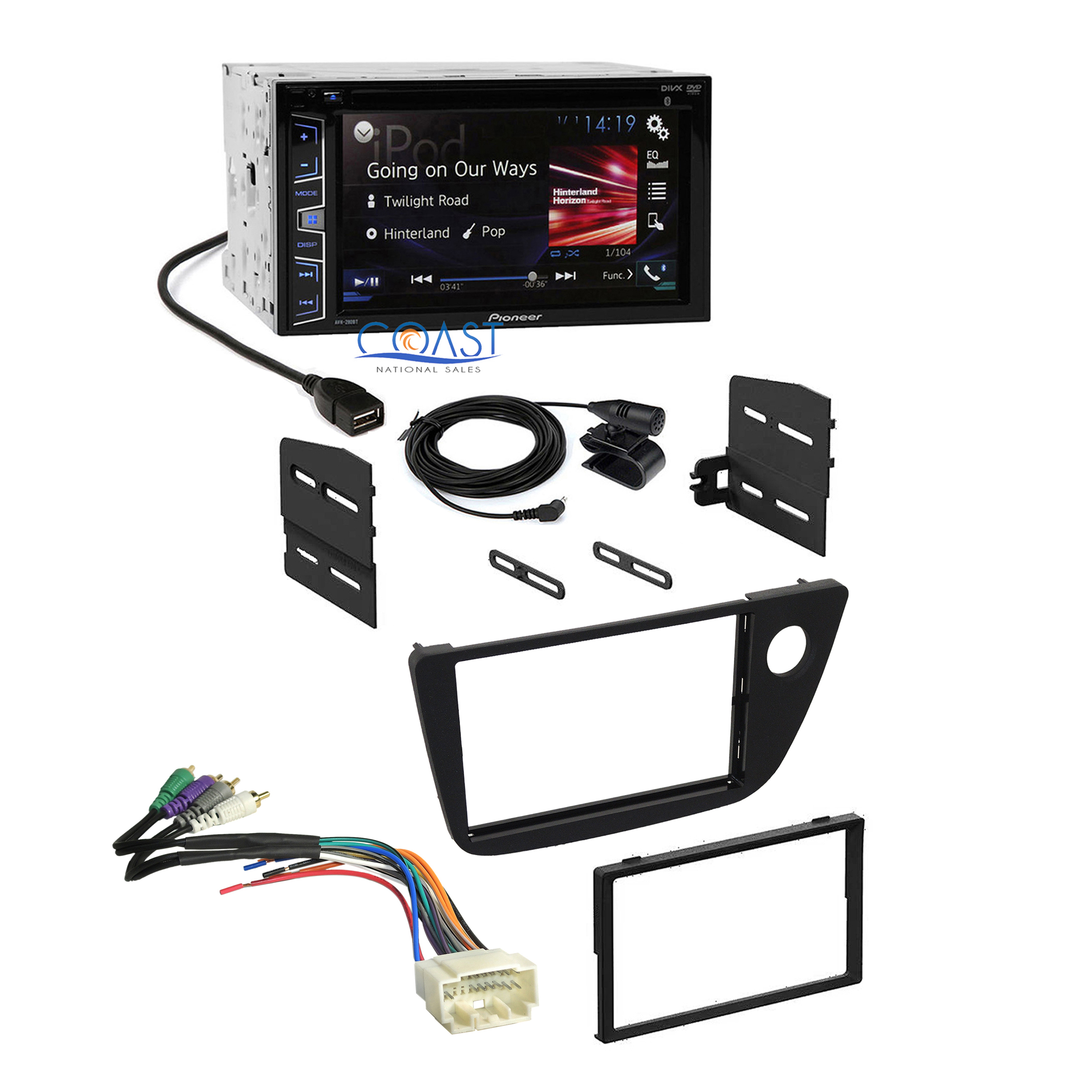 pioneer 2016 radio stereo dash kit amplifier wire harness ... pioneer super tuner radio wiring harness diagram #9