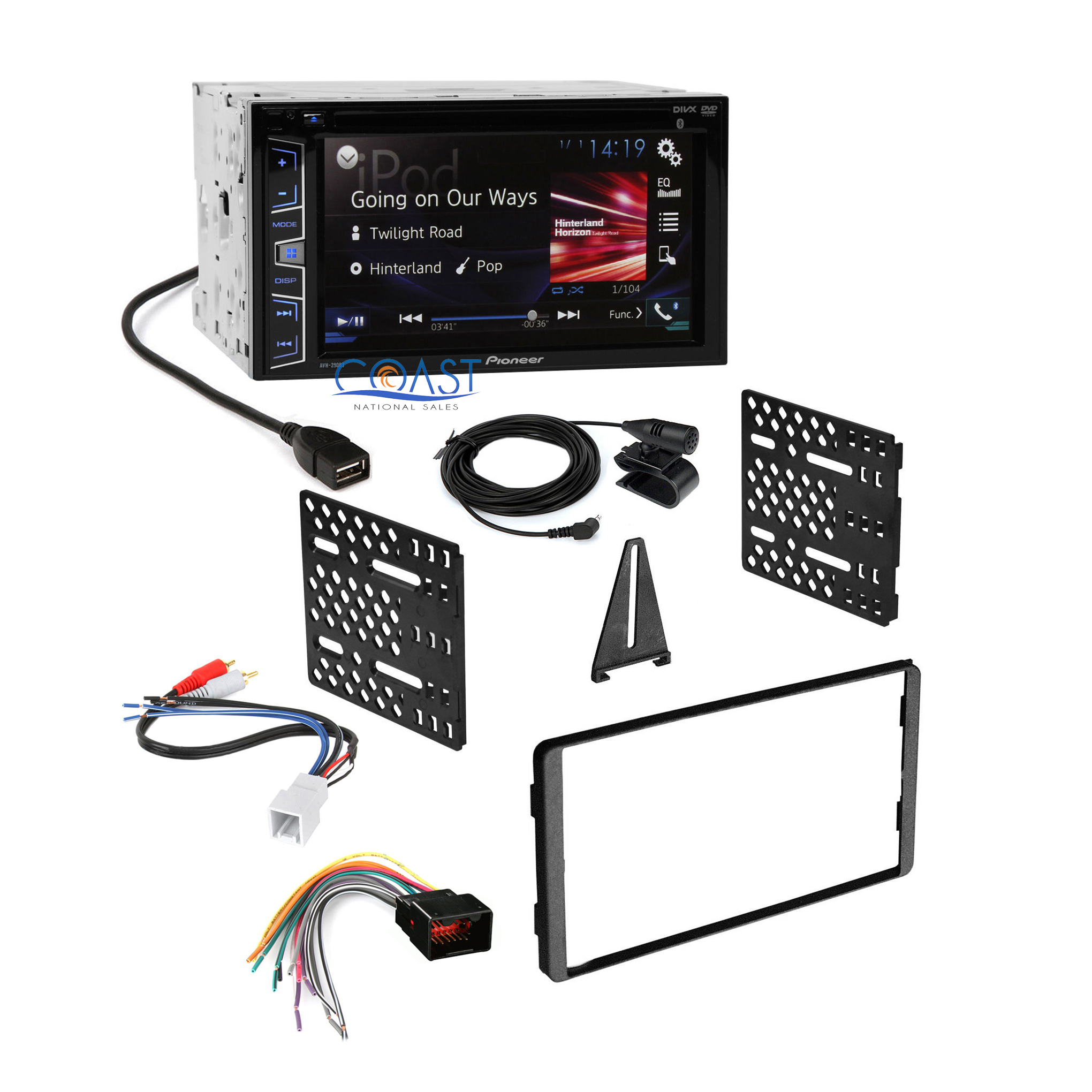 pioneer 2016 car radio stereo dash kit harness for 98 up. Black Bedroom Furniture Sets. Home Design Ideas