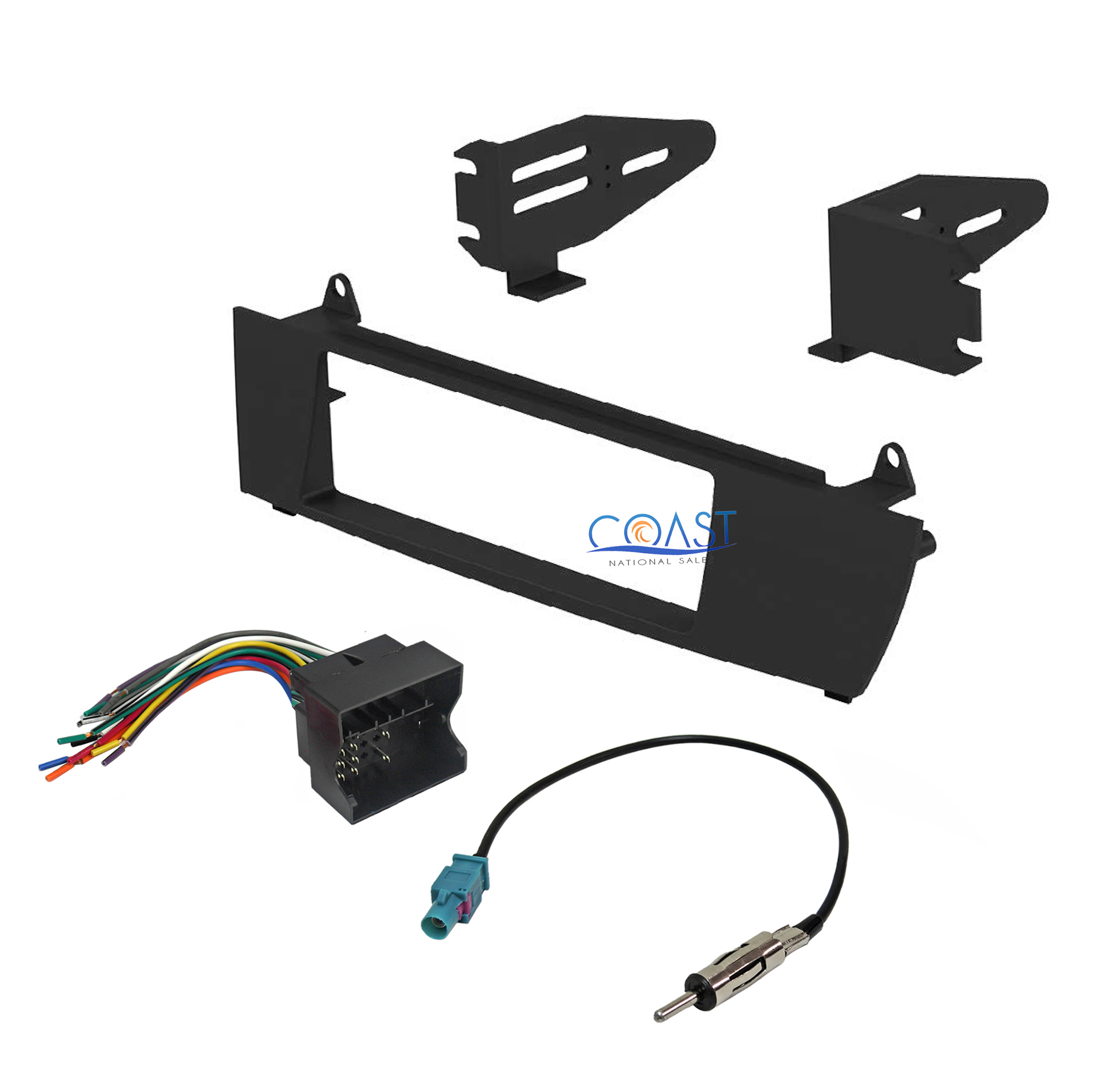 car radio stereo single din dash kit wire harness antenna. Black Bedroom Furniture Sets. Home Design Ideas
