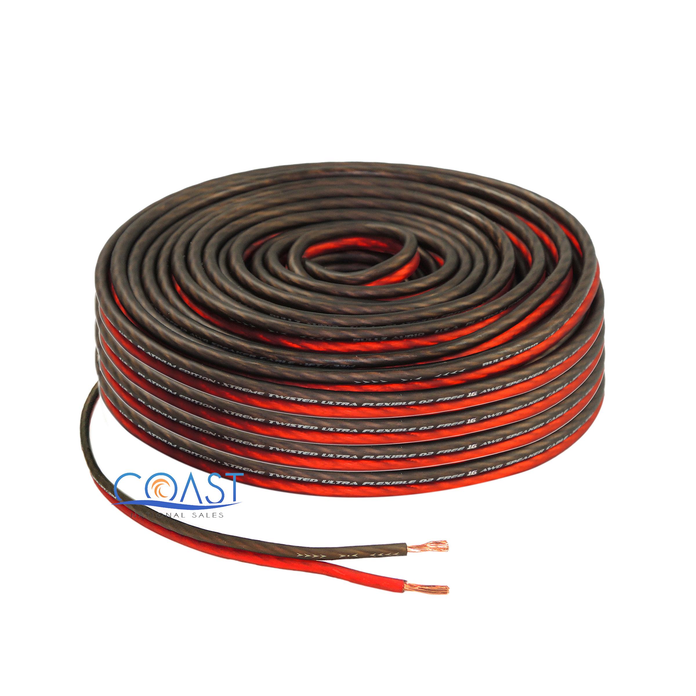Home Speaker Wire Gauge : Red ft true gauge awg car home audio speaker wire