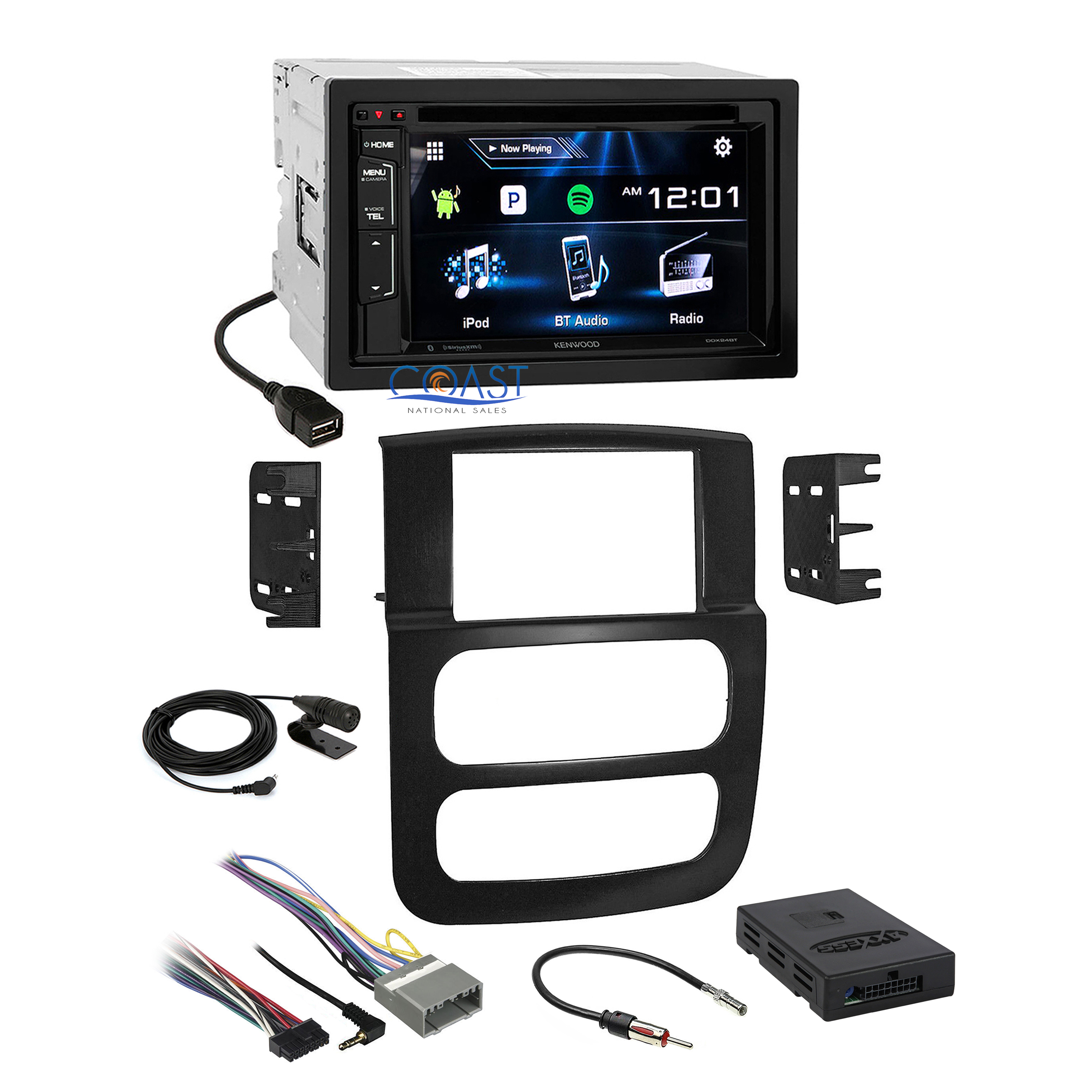 kenwood car siriusxm stereo dash kit amplifier harness for ... dodge ram wiring harness to kenwood dodge ram wiring harness recall #10