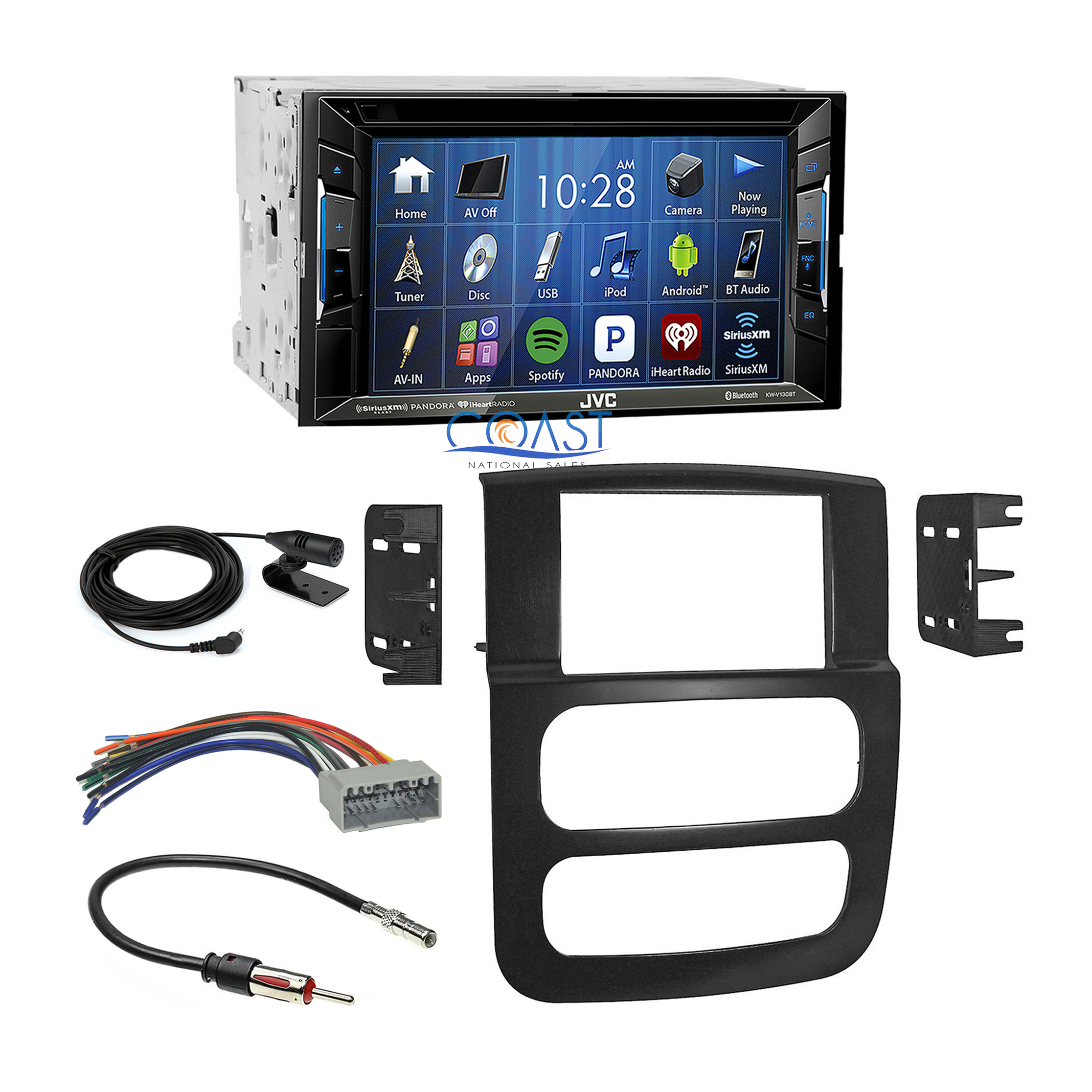 jvc bluetooth dvd car radio stereo dash kit harness for 02. Black Bedroom Furniture Sets. Home Design Ideas