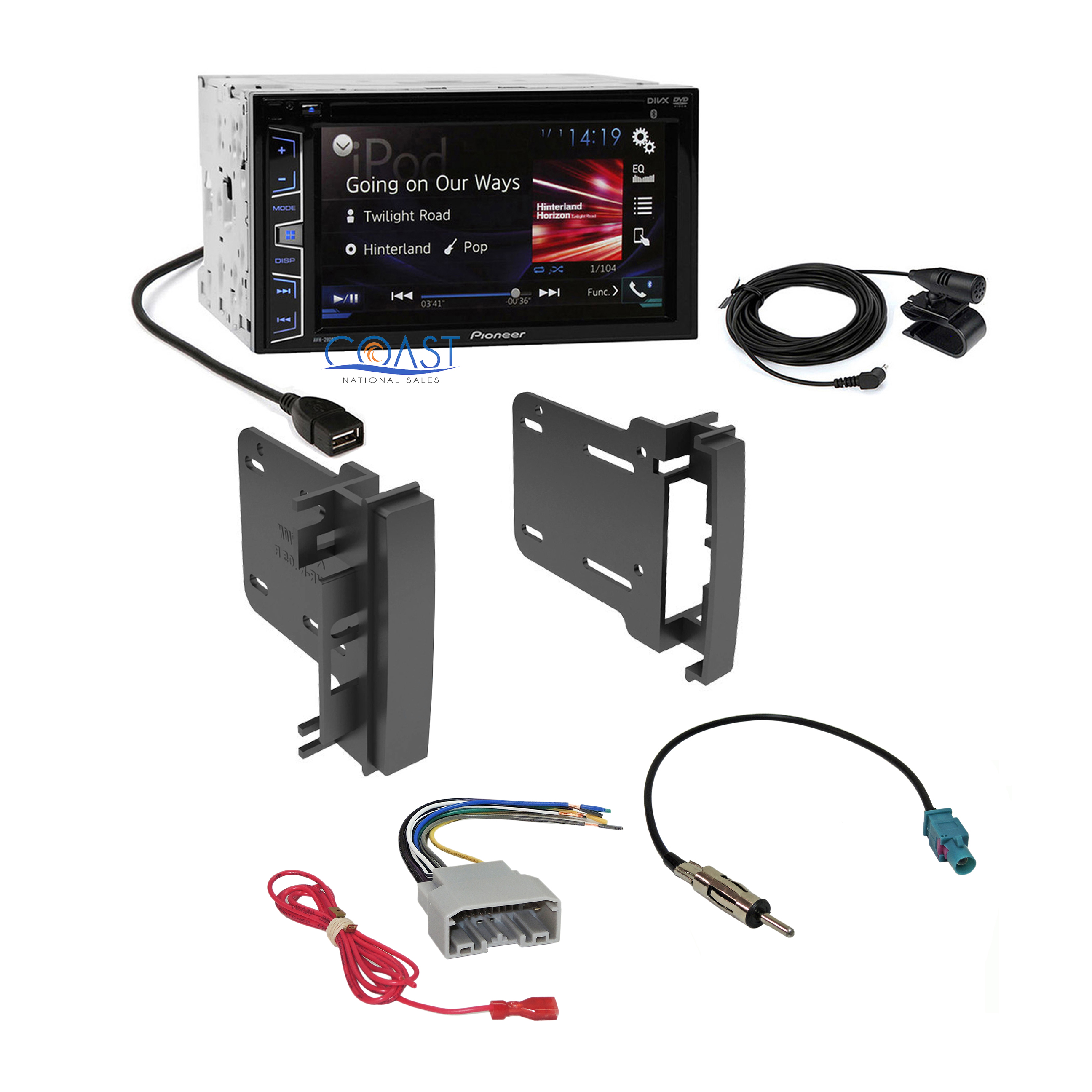 pioneer 2016 radio stereo din dash kit harness for 2007-14 ... harley rear speaker wiring harness speaker wiring harness 2007 ram #6