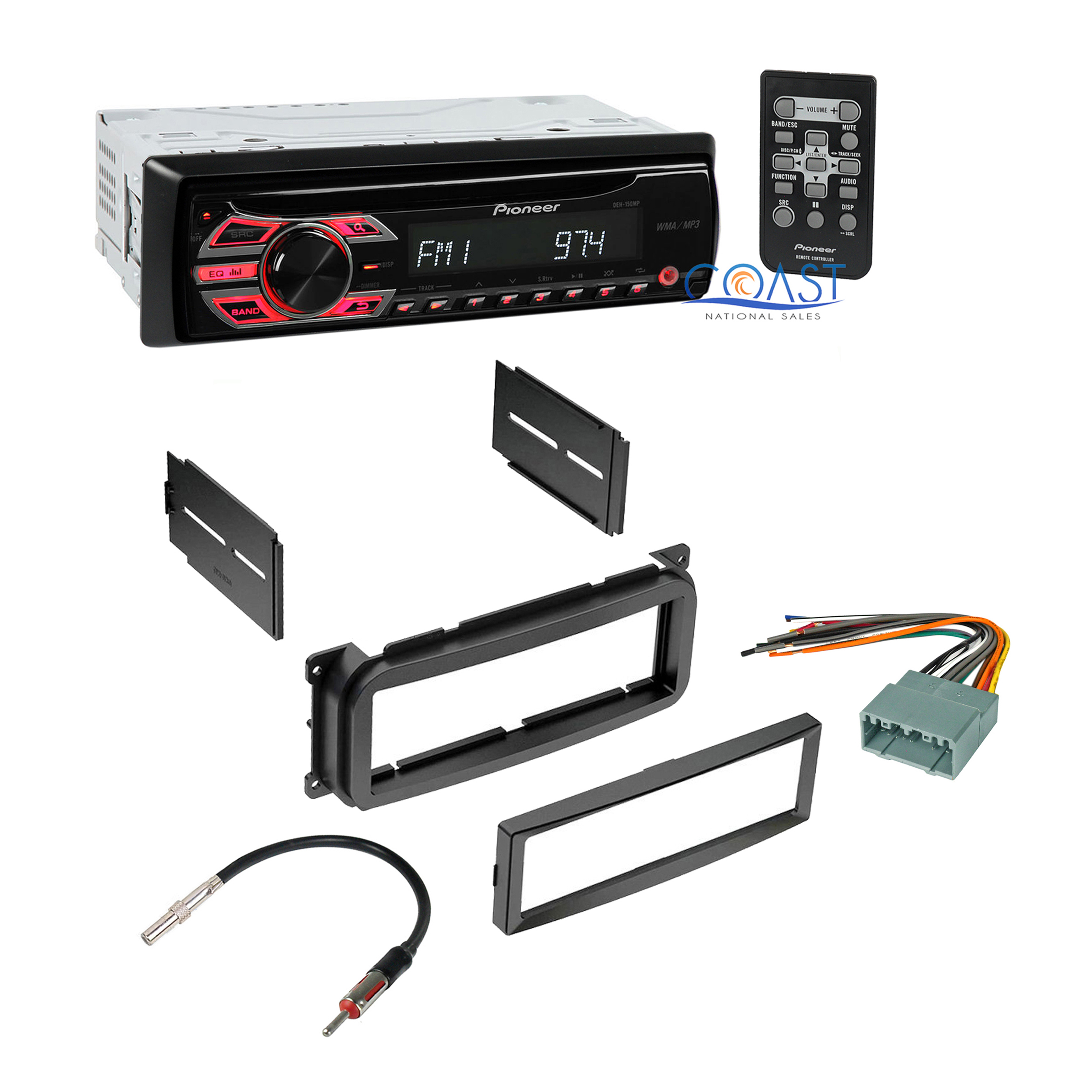 car radio stereo dash kit wire harness antenna for 2002 up chrysler dodge jeep ebay