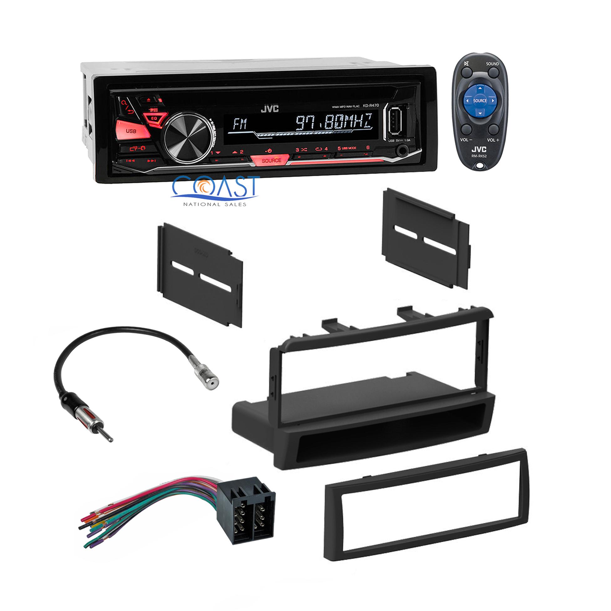 jvc car usb radio stereo dash kit harness antenna for. Black Bedroom Furniture Sets. Home Design Ideas