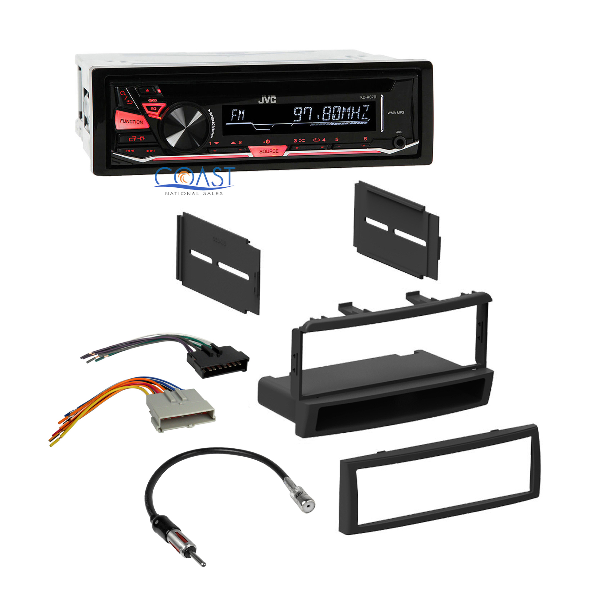 Mercury Cougar Stereo Wiring Automotive Diagram 1999 Jvc Radio Dash Kit Harness For 98 04 Ford 1994 1993
