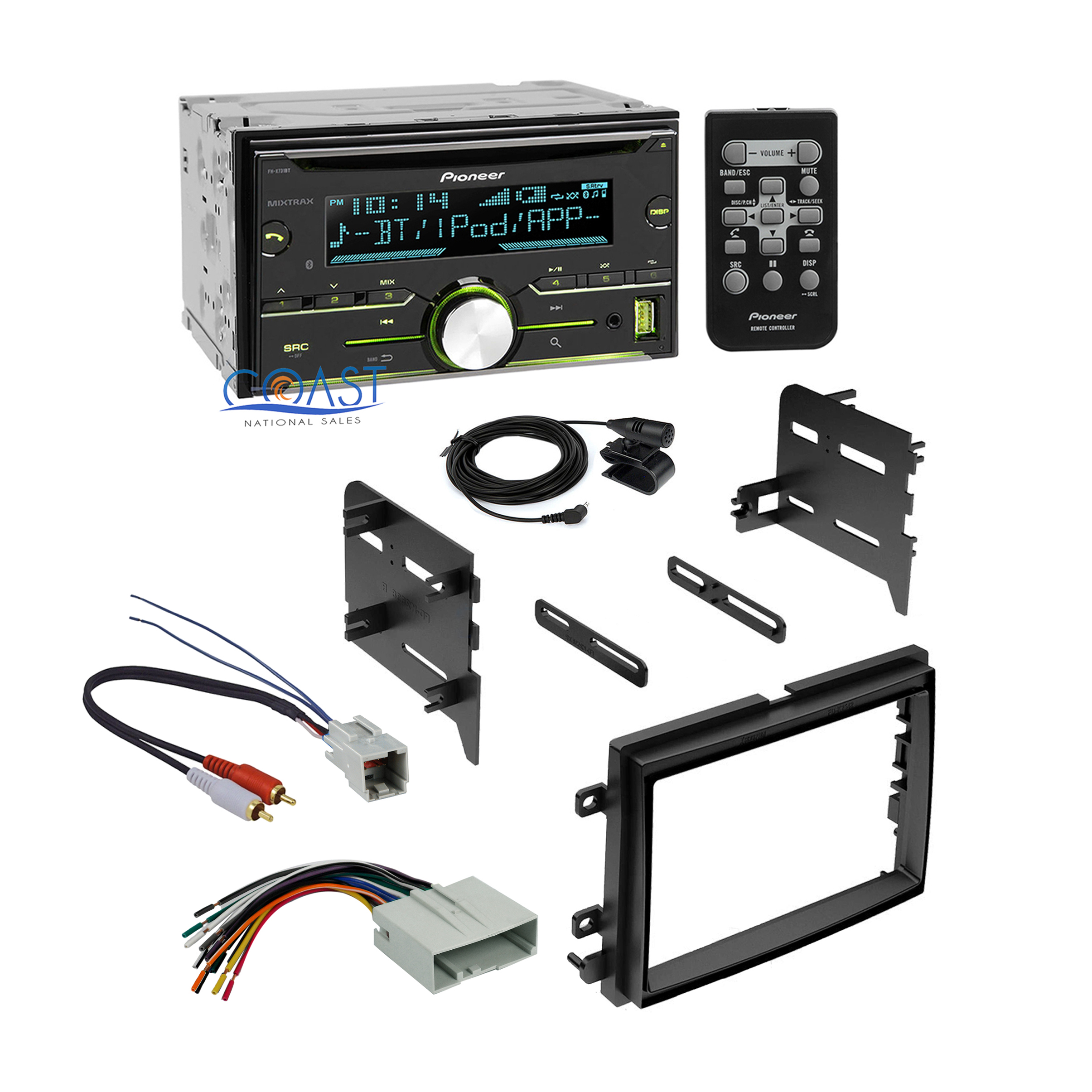 Pioneer Radio Stereo 2 Din Dash Kit Harness For 2004
