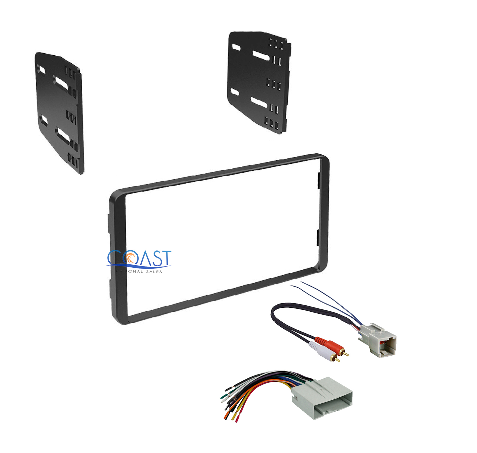 car stereo radio double din dash kit w harness for 2004. Black Bedroom Furniture Sets. Home Design Ideas