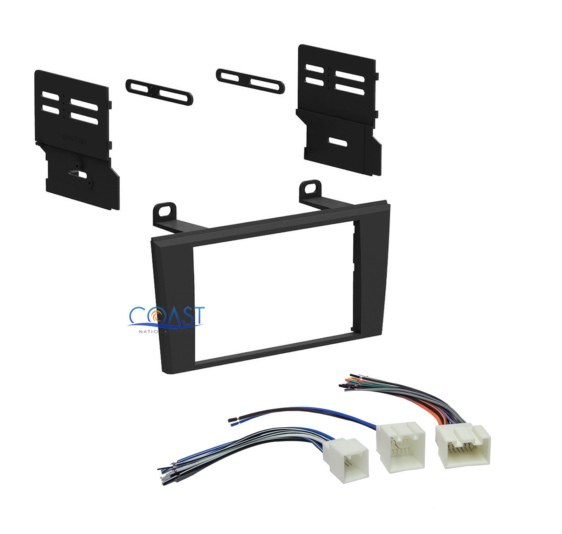 car double din radio stereo dash kit wiring harness for. Black Bedroom Furniture Sets. Home Design Ideas