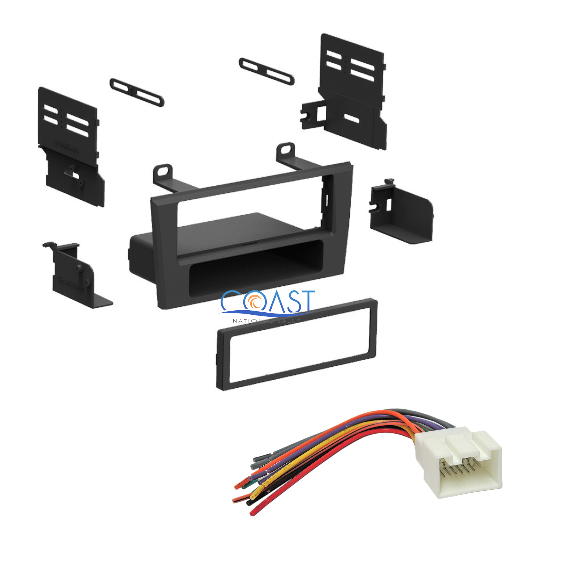 single din install car stereo dash kit harness for ford. Black Bedroom Furniture Sets. Home Design Ideas
