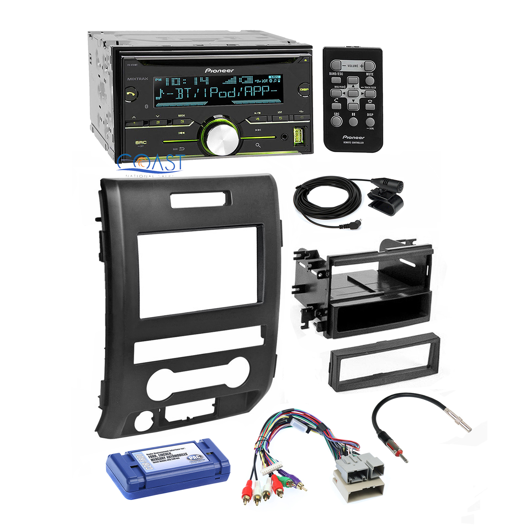 Pioneer Radio Stereo 2 Din Dash Kit Harness Interface For