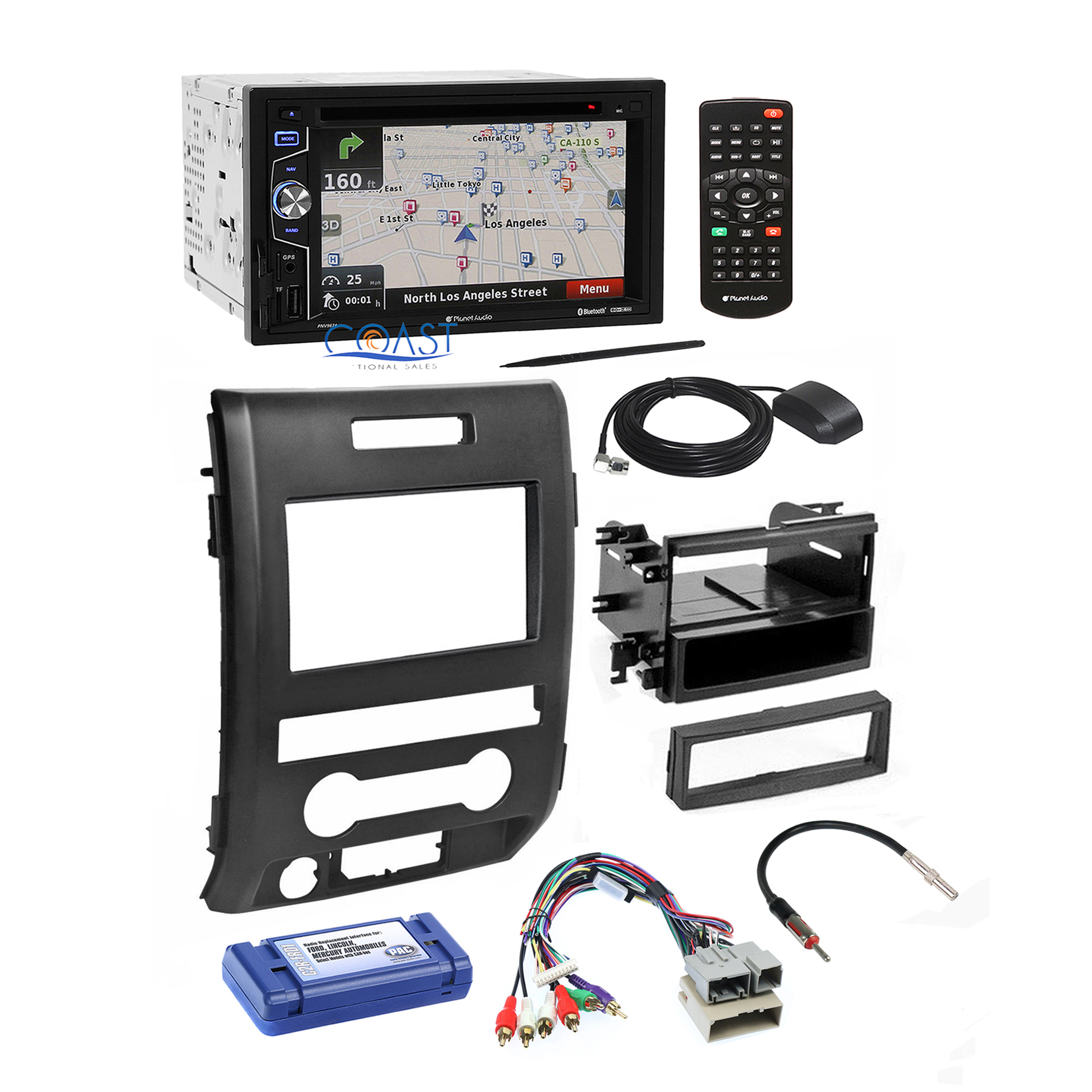 planet audio radio stereo dash kit wire harness interface for 09 12 ford f 150 ebay