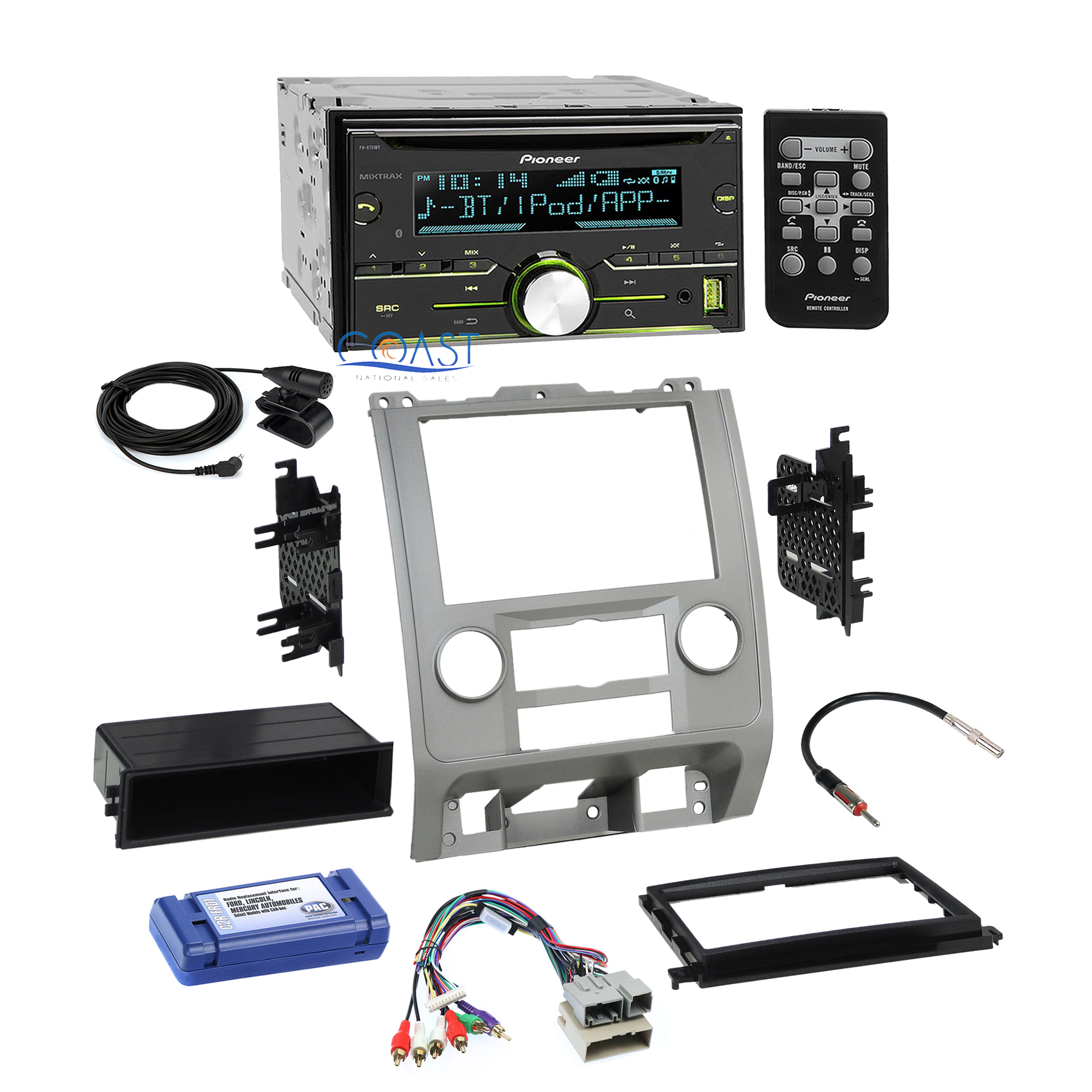 Pioneer Radio Stereo Silver Dash Kit Wire Harness For 08