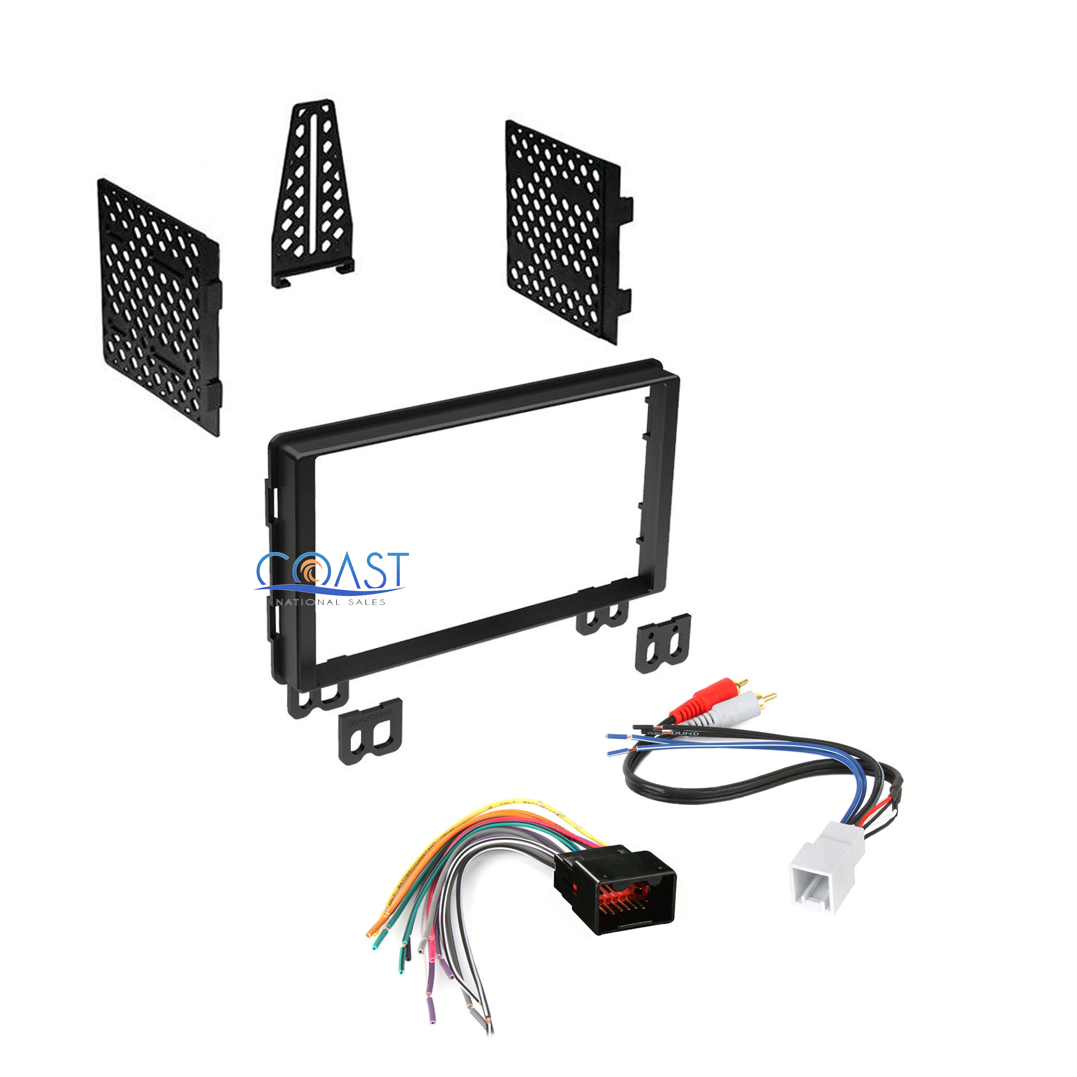 double din car radio stereo dash kit harness for 2001