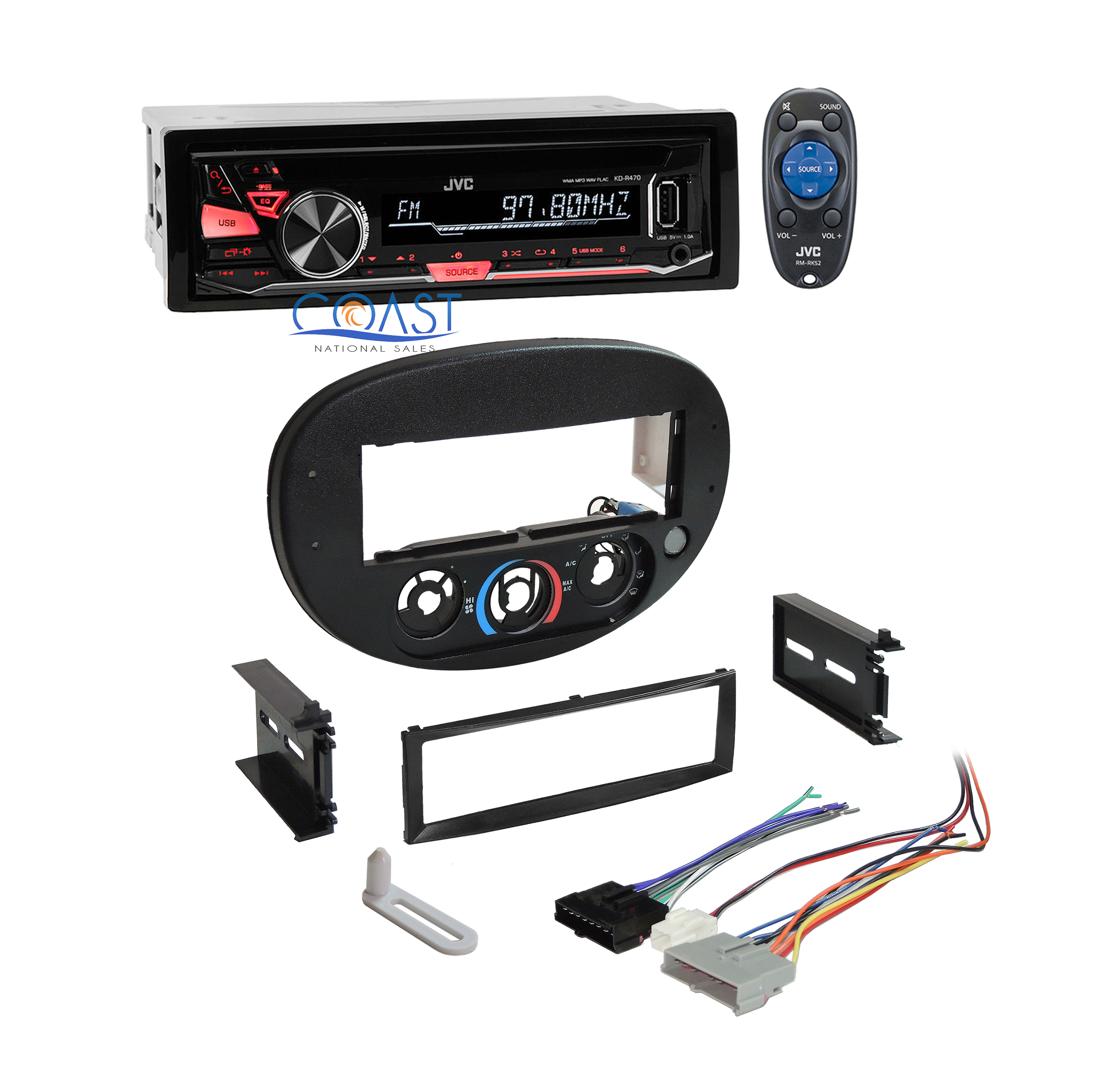 jvc car radio stereo single din dash kit wire harness for. Black Bedroom Furniture Sets. Home Design Ideas