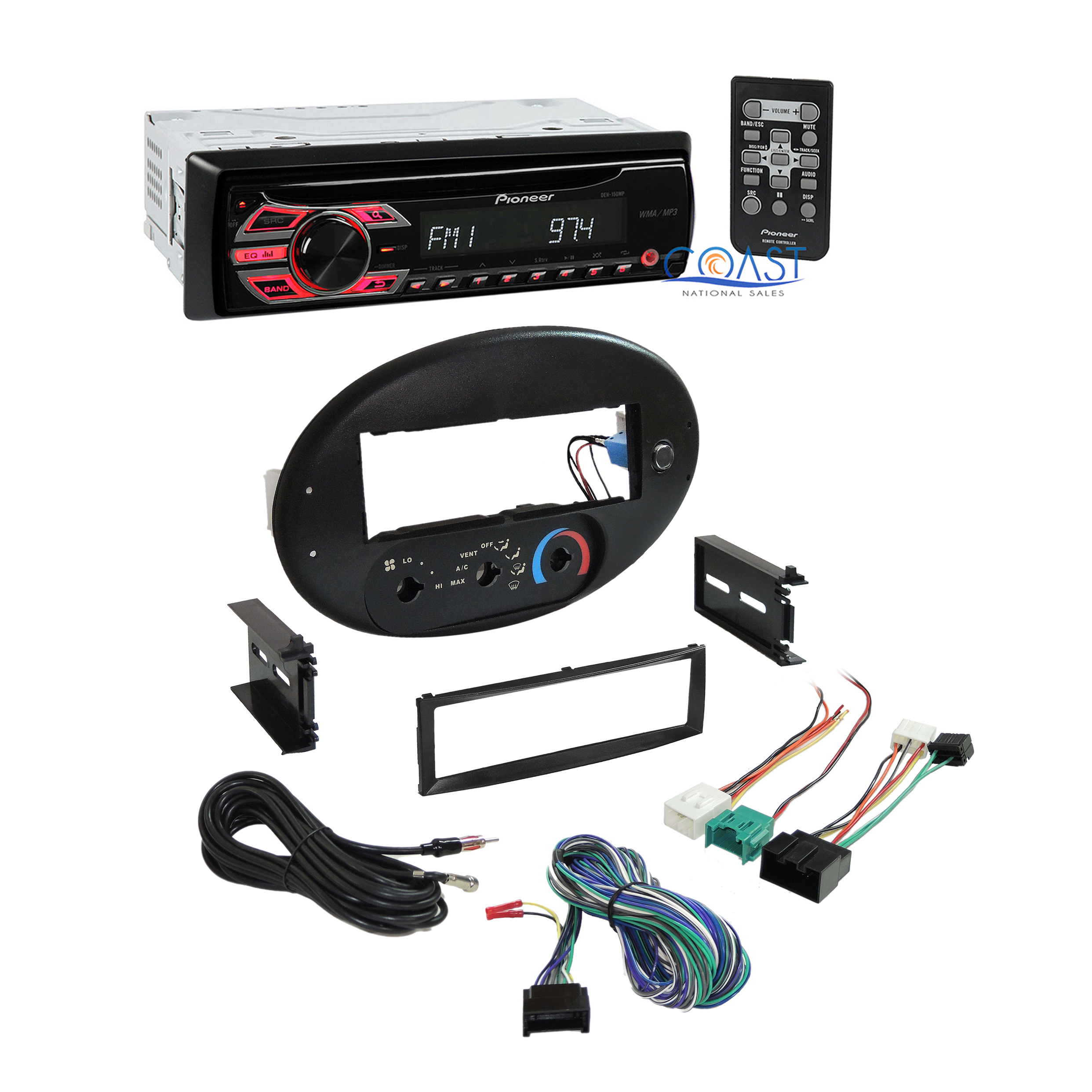 Pioneer Car Radio Stereo Dash Kit Harness For 1996