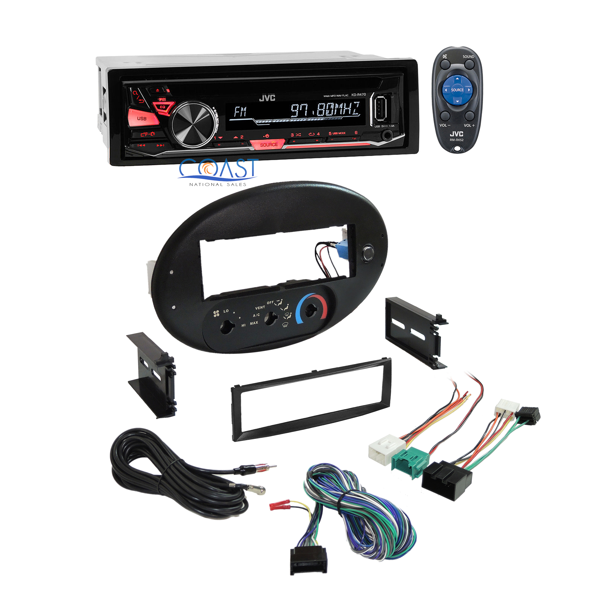 Jvc Car Radio Stereo Dash Kit Wire Harness For 96