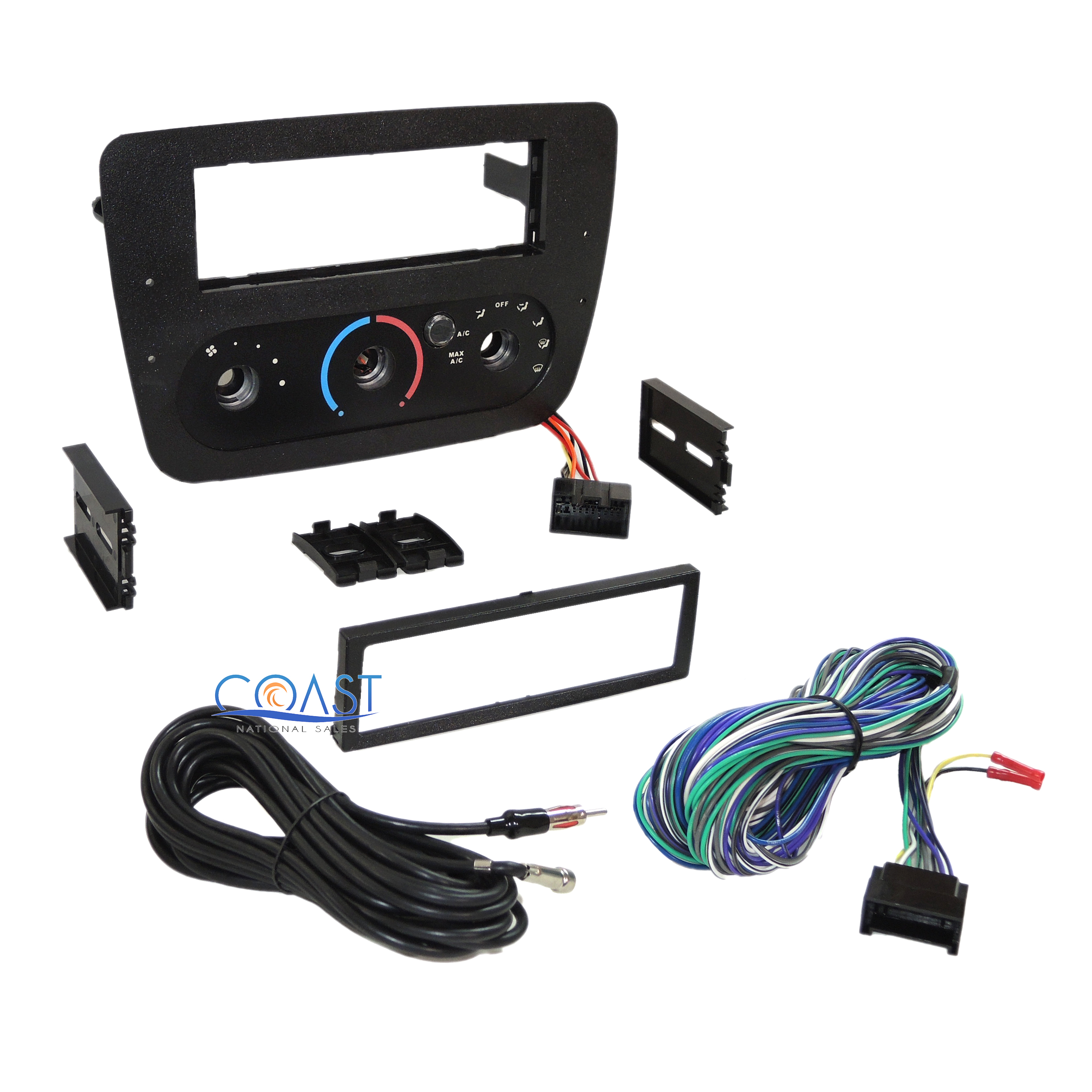 car radio stereo dash kit bezel harness for 2000 2007 ford. Black Bedroom Furniture Sets. Home Design Ideas