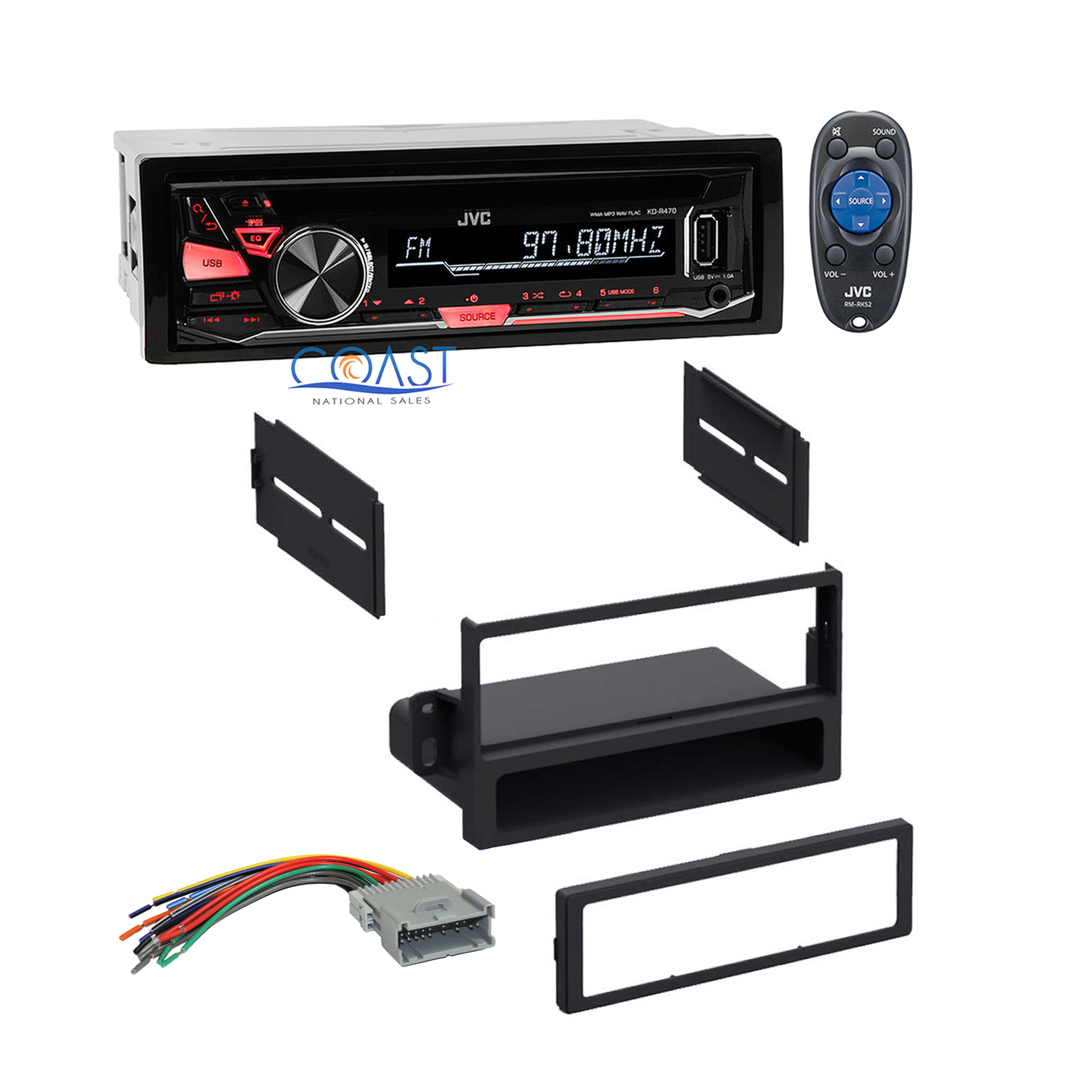 jvc car radio stereo dash kit wire harness for 2000 2005 saturn ion vue sc