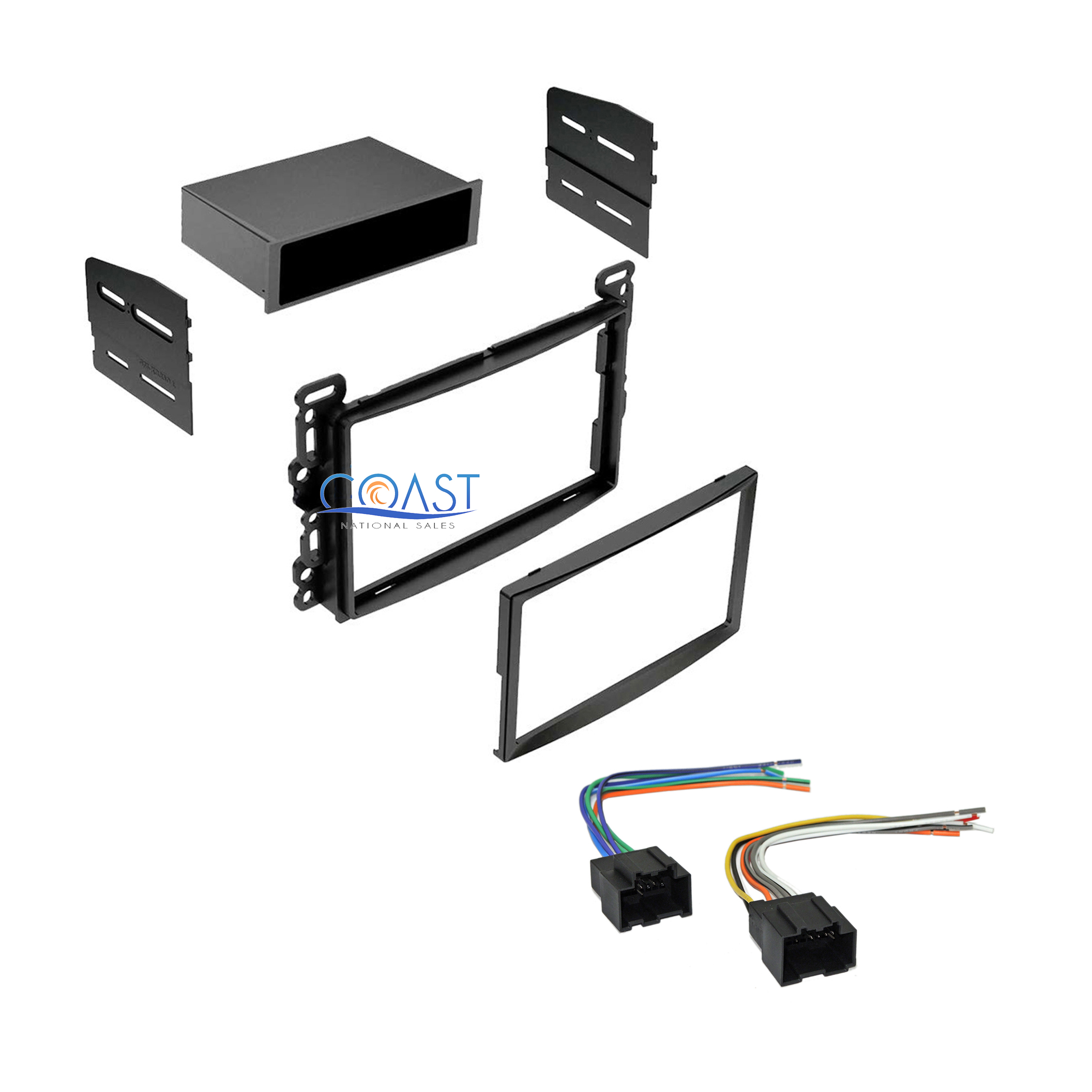 Car Stereo Single Double Din Dash Kit With Harness For