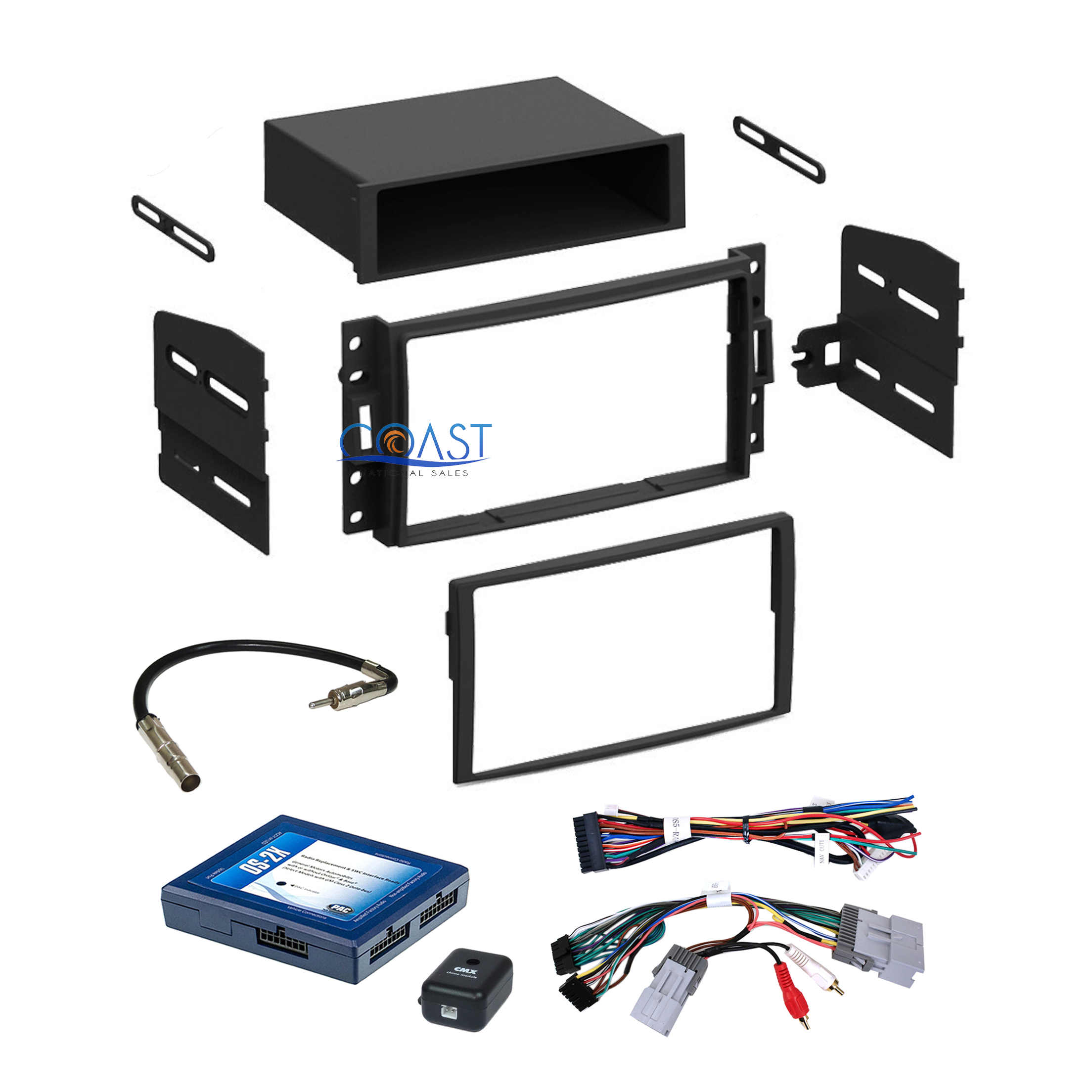Car stereo dash kit bose onstar interface harness for