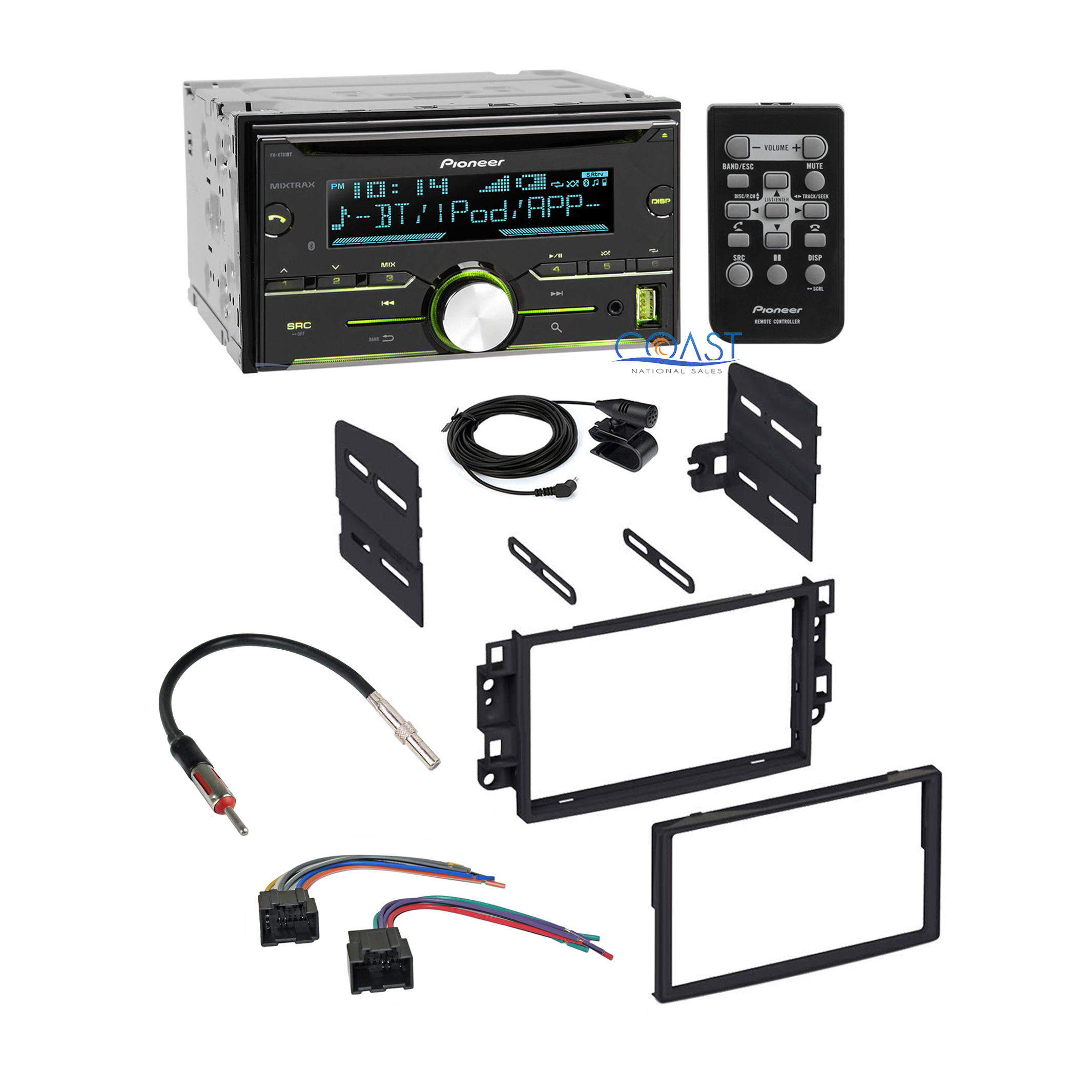 pioneer bluetooth car stereo dash kit wire harness for 2007 11 chevrolet aveo ebay