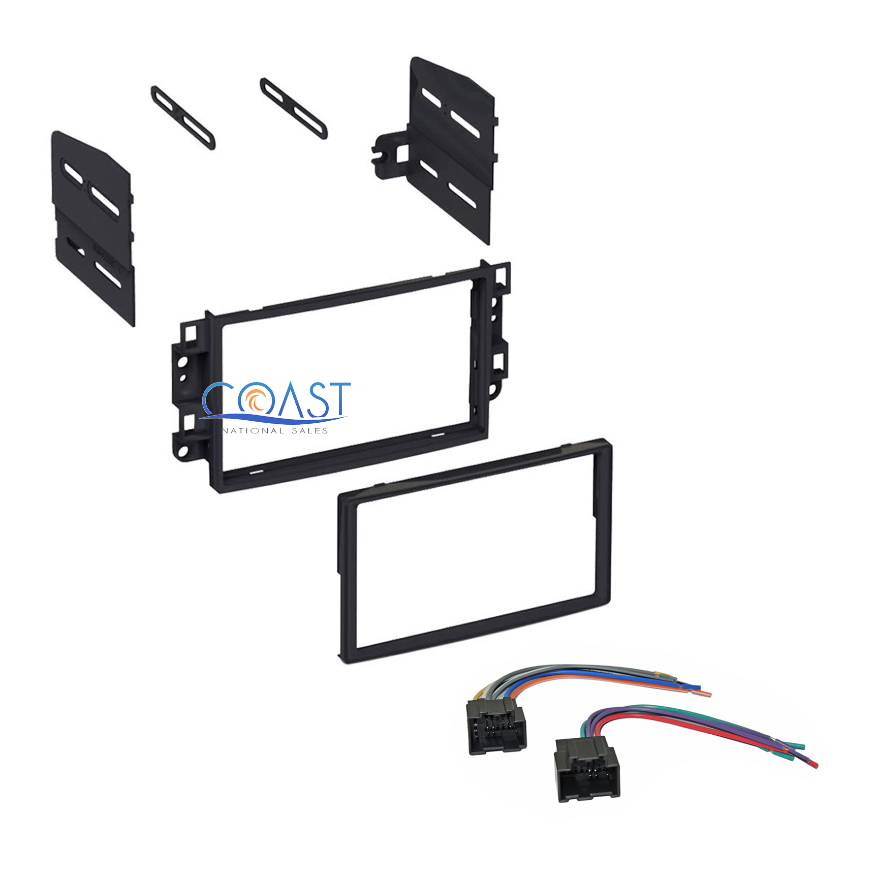single double din car stereo dash kit with harness for. Black Bedroom Furniture Sets. Home Design Ideas