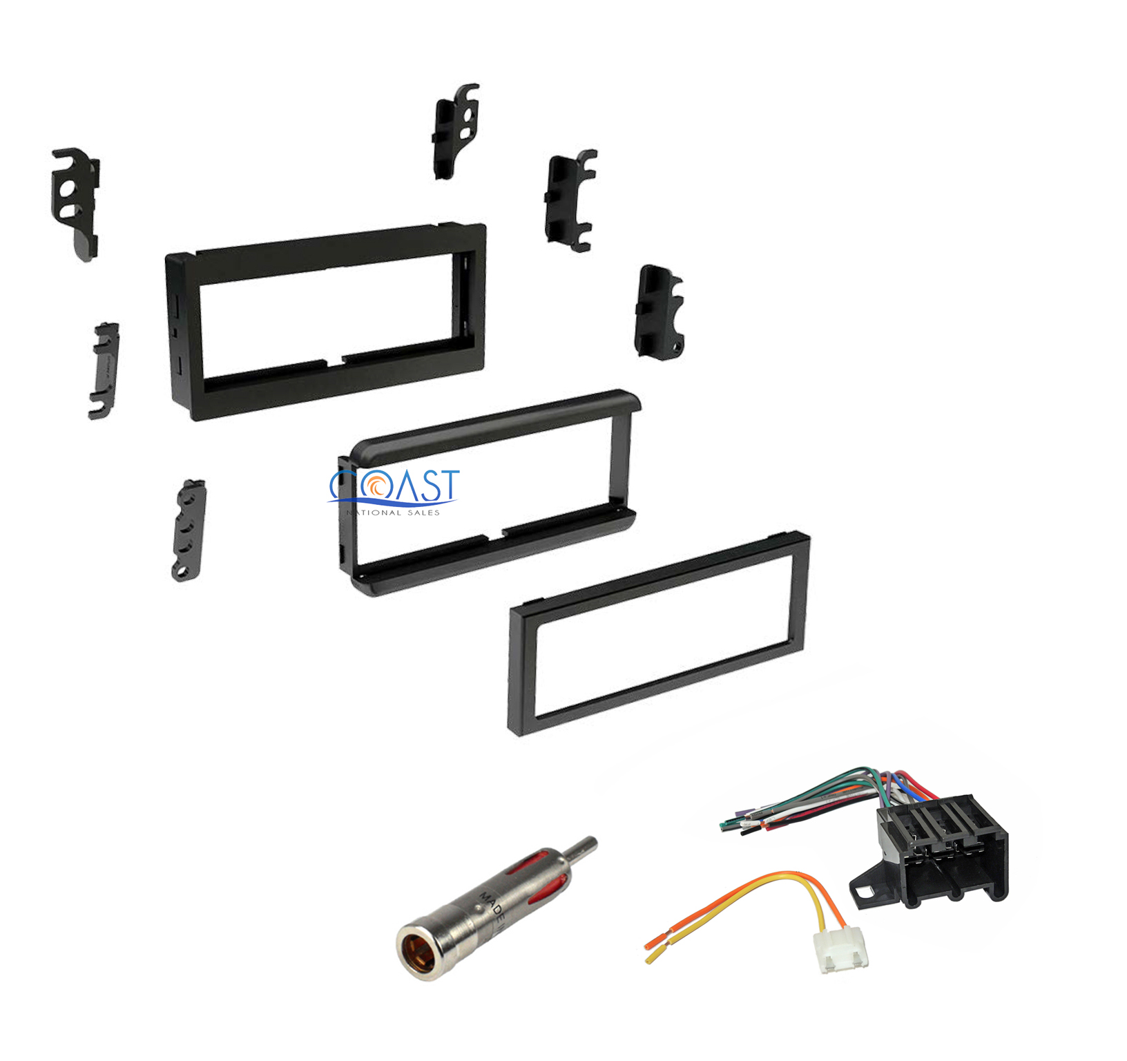 single din dash kit   harness  u0026 antenna 1982