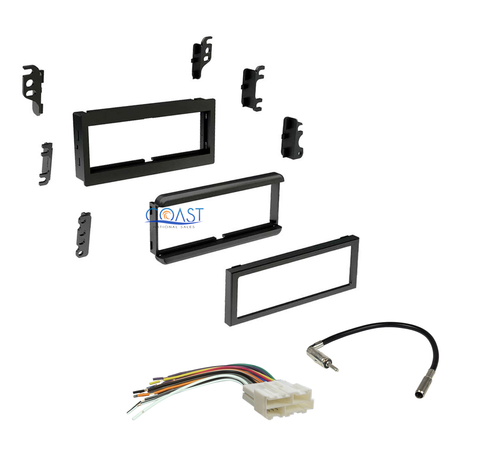 single din car dash kit harness antenna for 1982