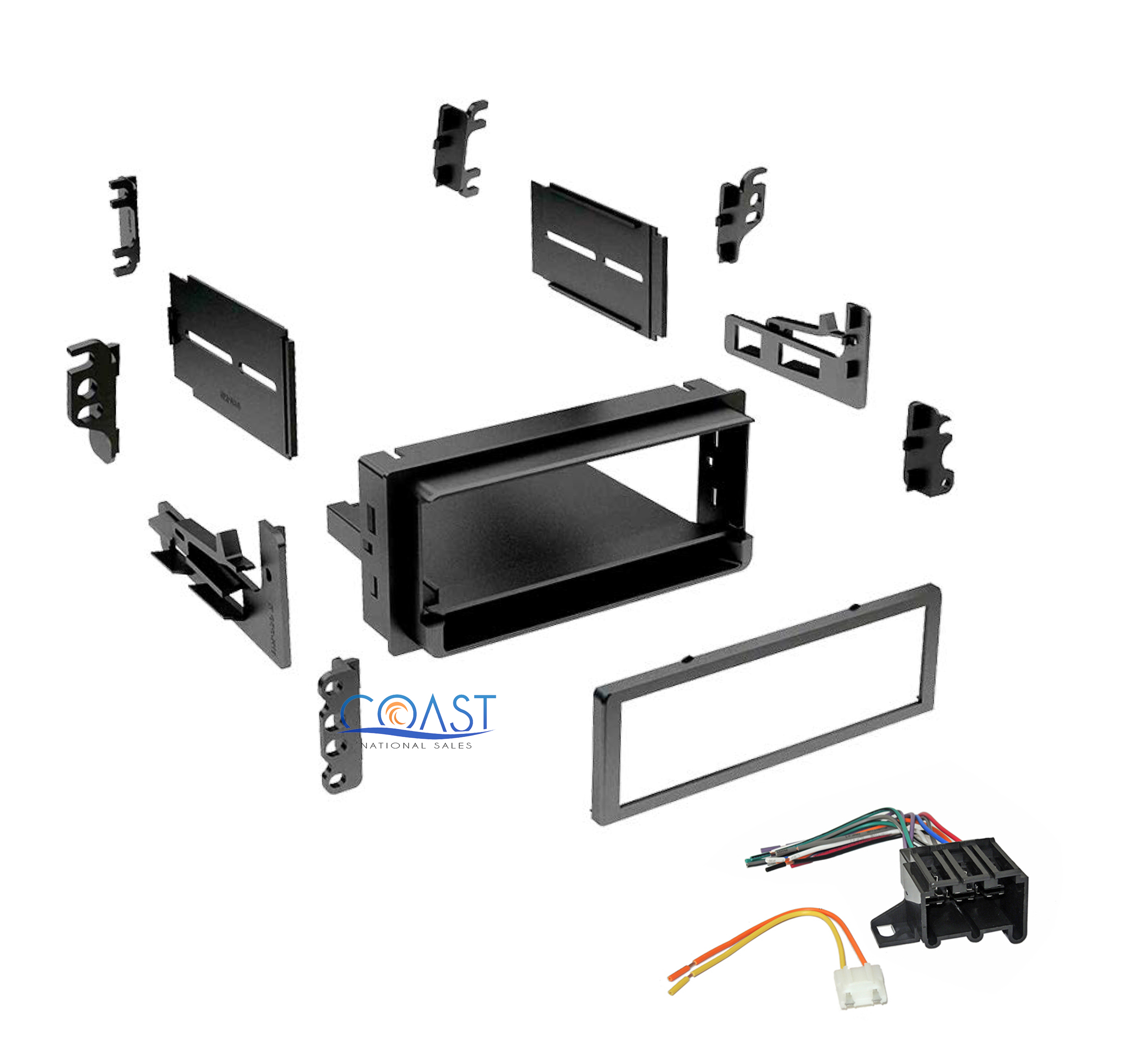 single din stereo dash kit wire harness for 1982 2004 gmc. Black Bedroom Furniture Sets. Home Design Ideas
