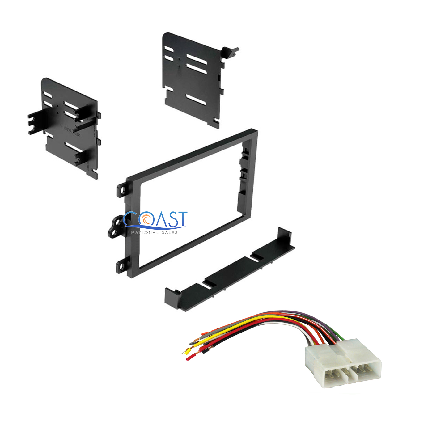 Car Radio Stereo Double Din Dash Kit Wire Harness For 1995