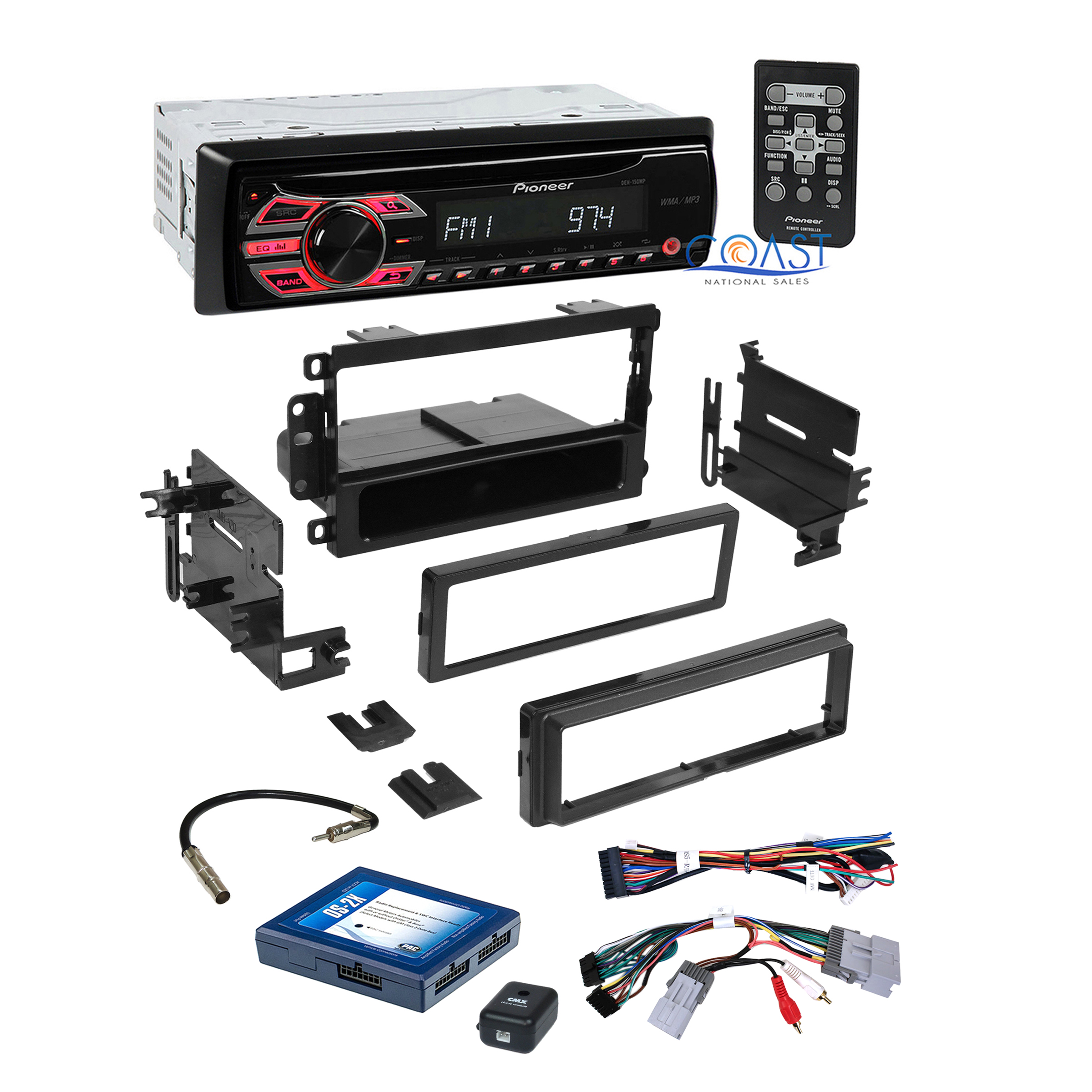 pioneer car stereo dash kit onstar interface harness for 2000 gm gmc chevrolet ebay