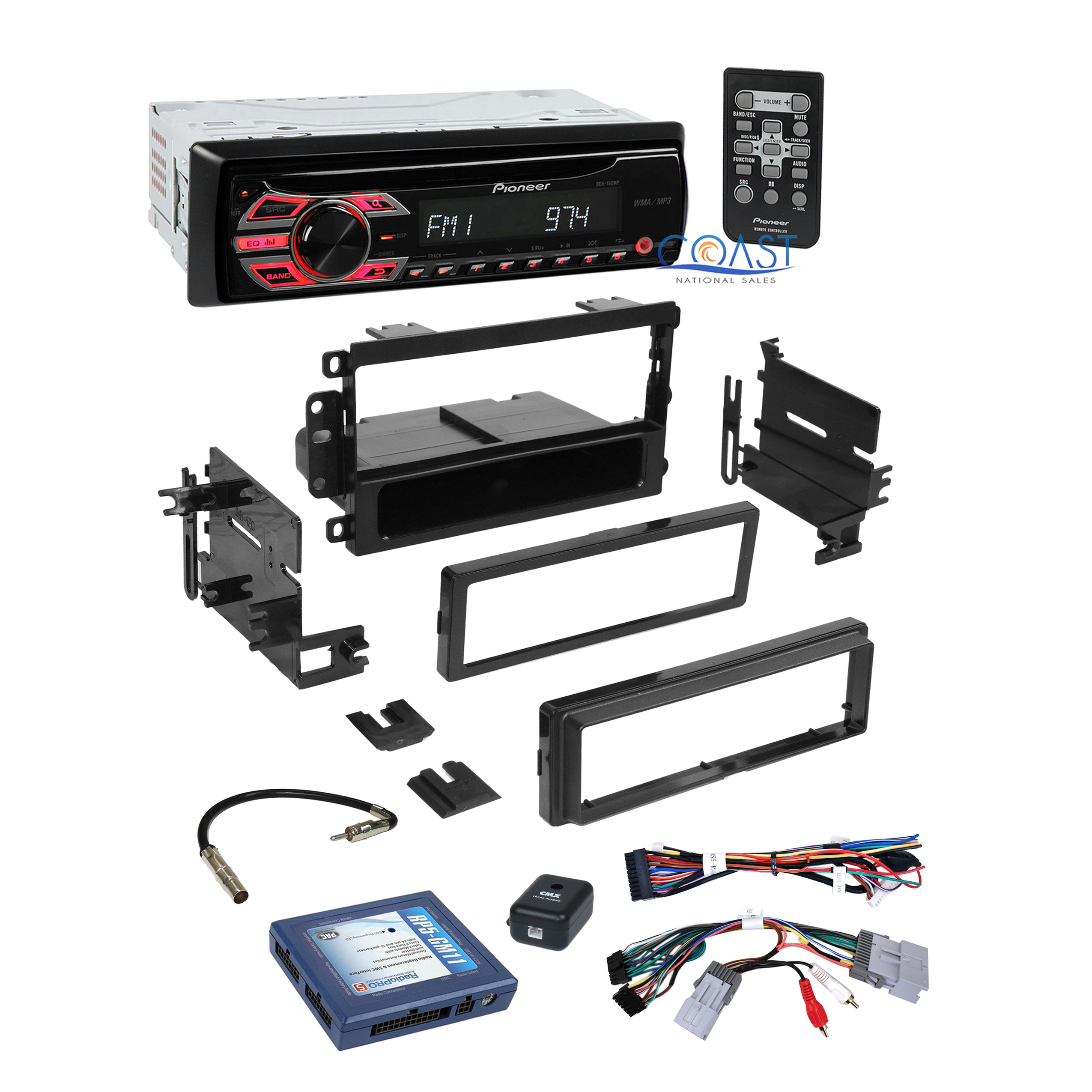 Pioneer car radio stereo dash kit bose onstar swc wire