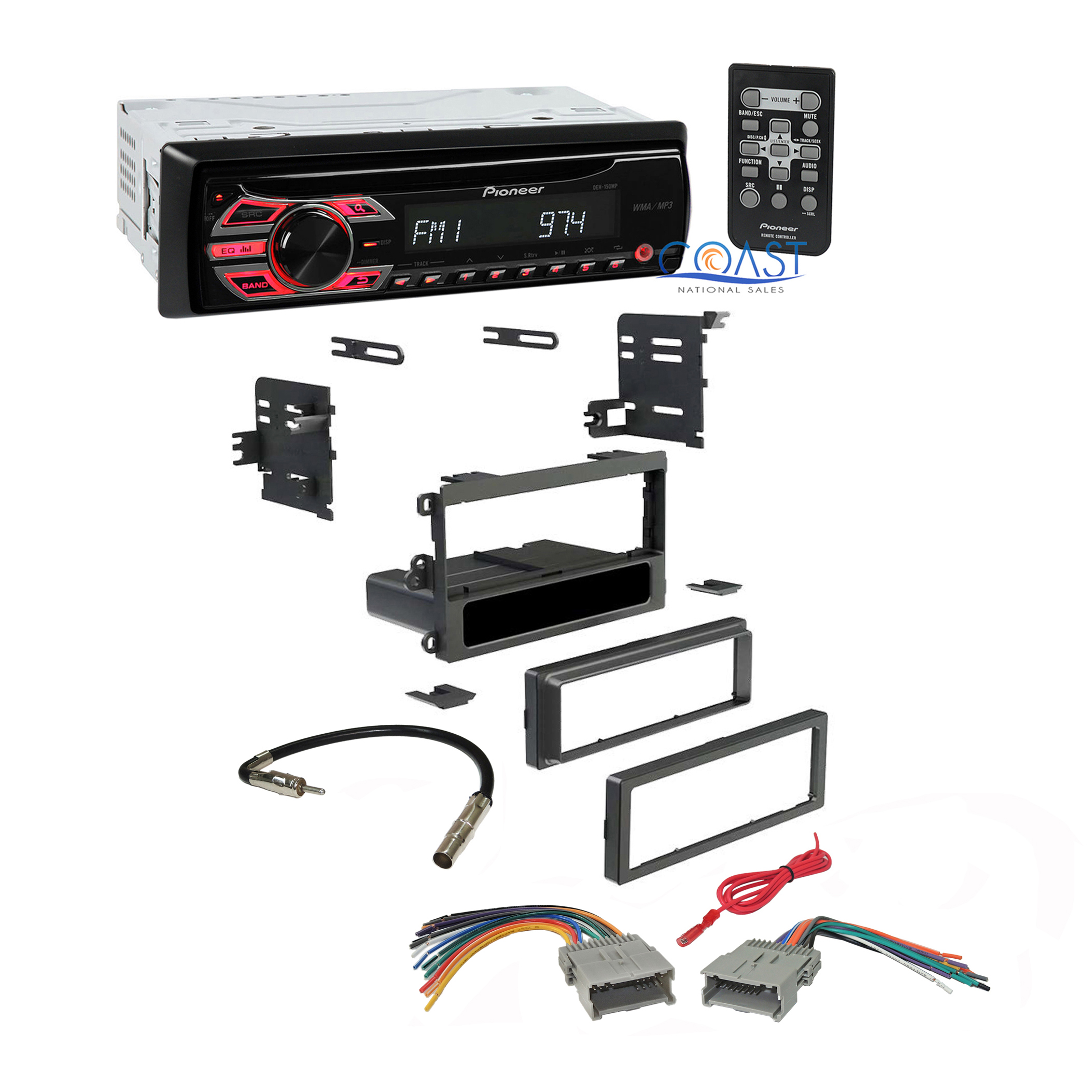 pioneer radio stereo din dash kit harness for 1992 up chevy gmc pontiac ebay