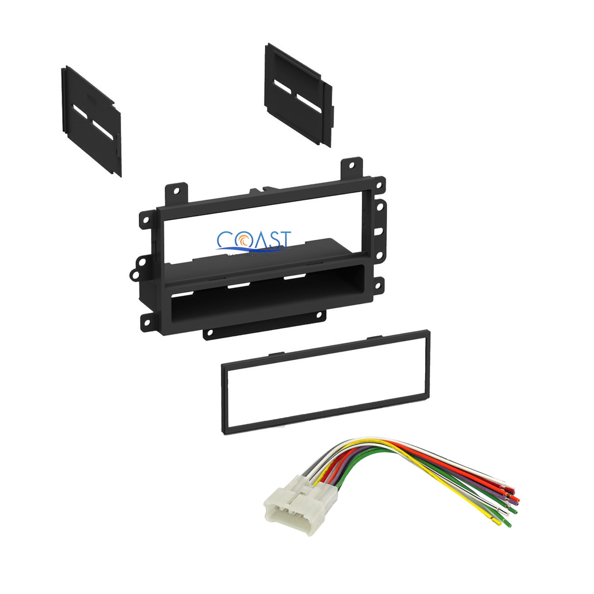 Single Din Car Stereo Dash Kit Harness For 1995