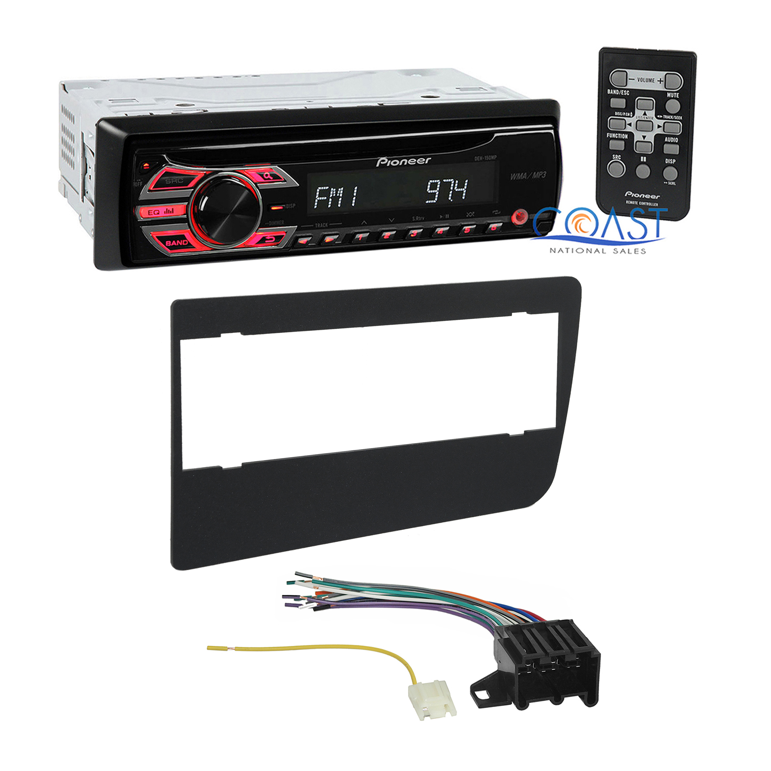 pioneer car radio stereo dash kit wire harness for 1973 87 gmc chevrolet trucks ebay