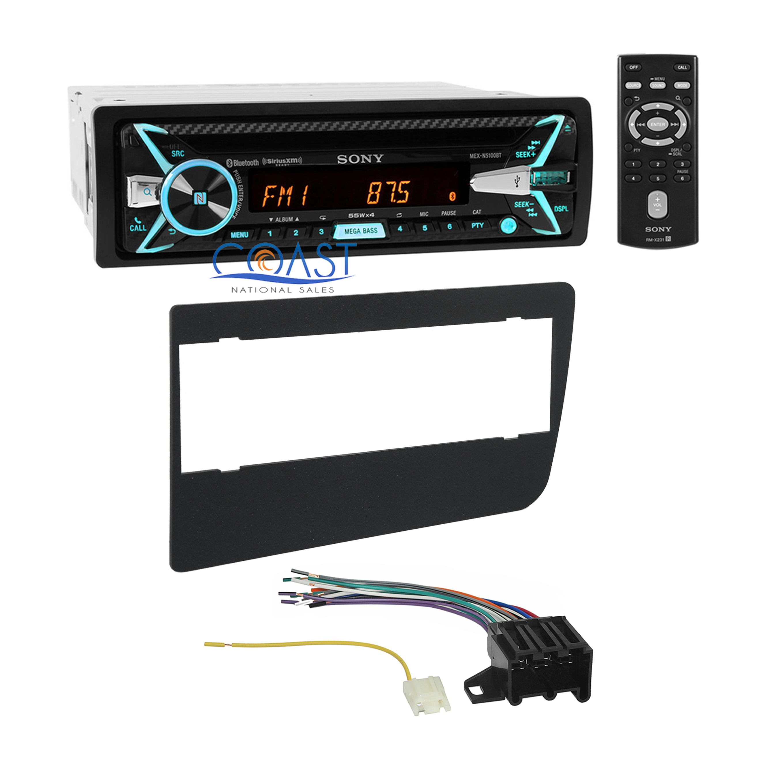 sony car radio stereo dash kit wire harness for 1973 1987 gmc chevrolet truck