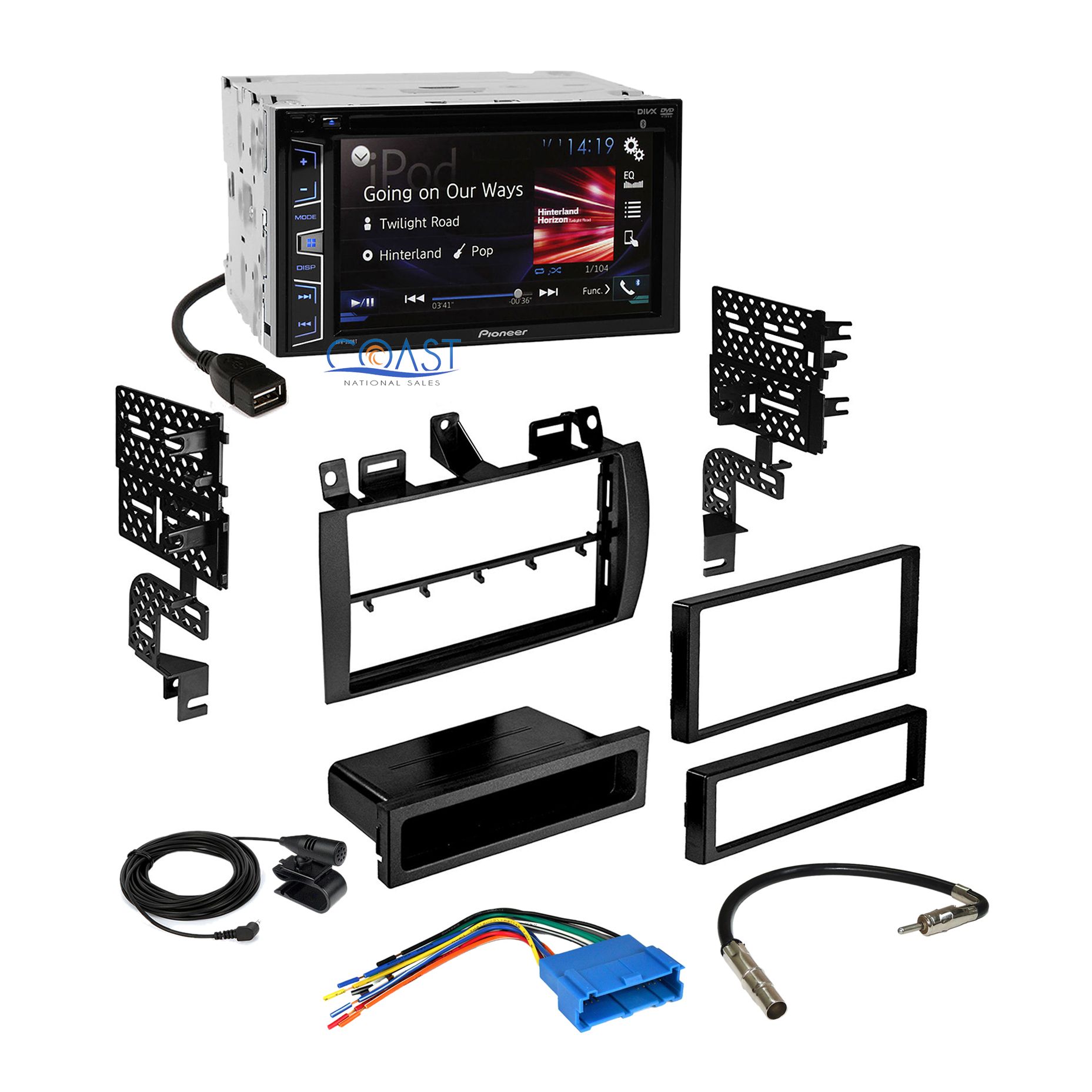 pioneer double din car radio stereo dash kit wire harness. Black Bedroom Furniture Sets. Home Design Ideas