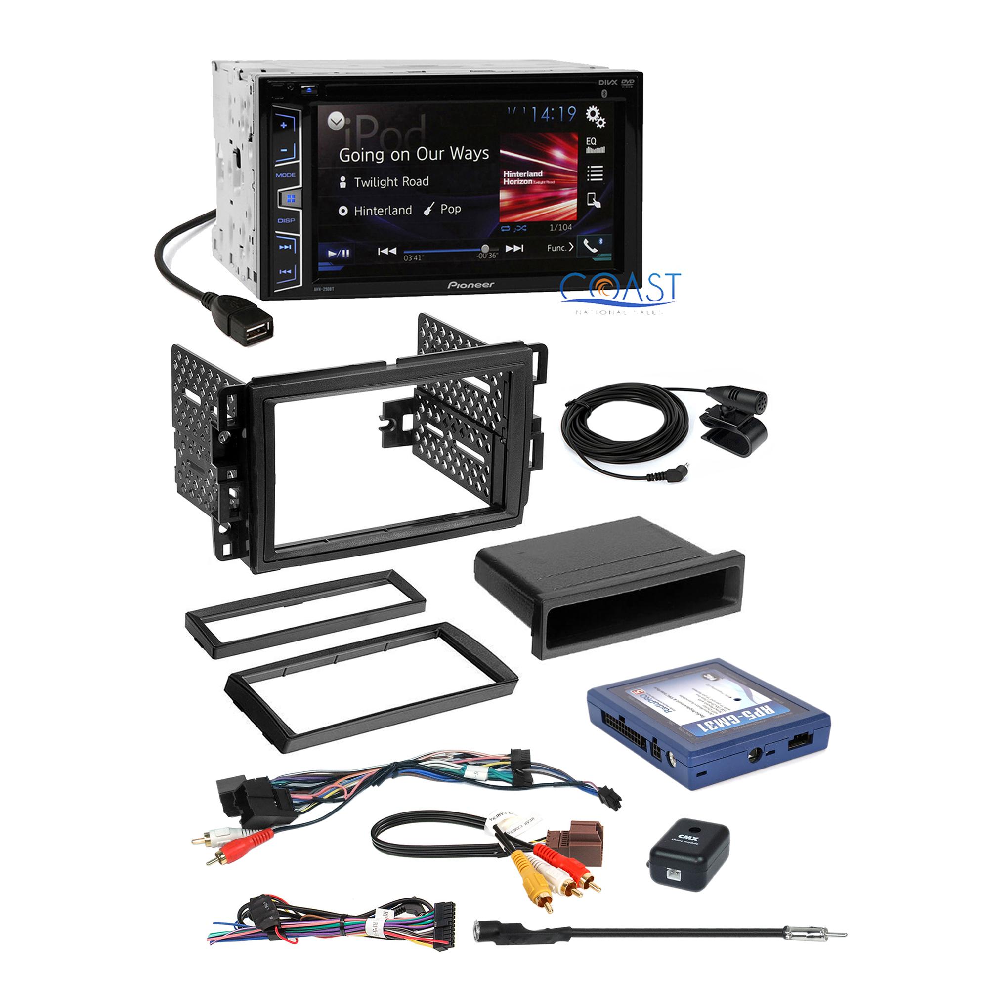Pioneer radio stereo gm dash kit harness w onstar