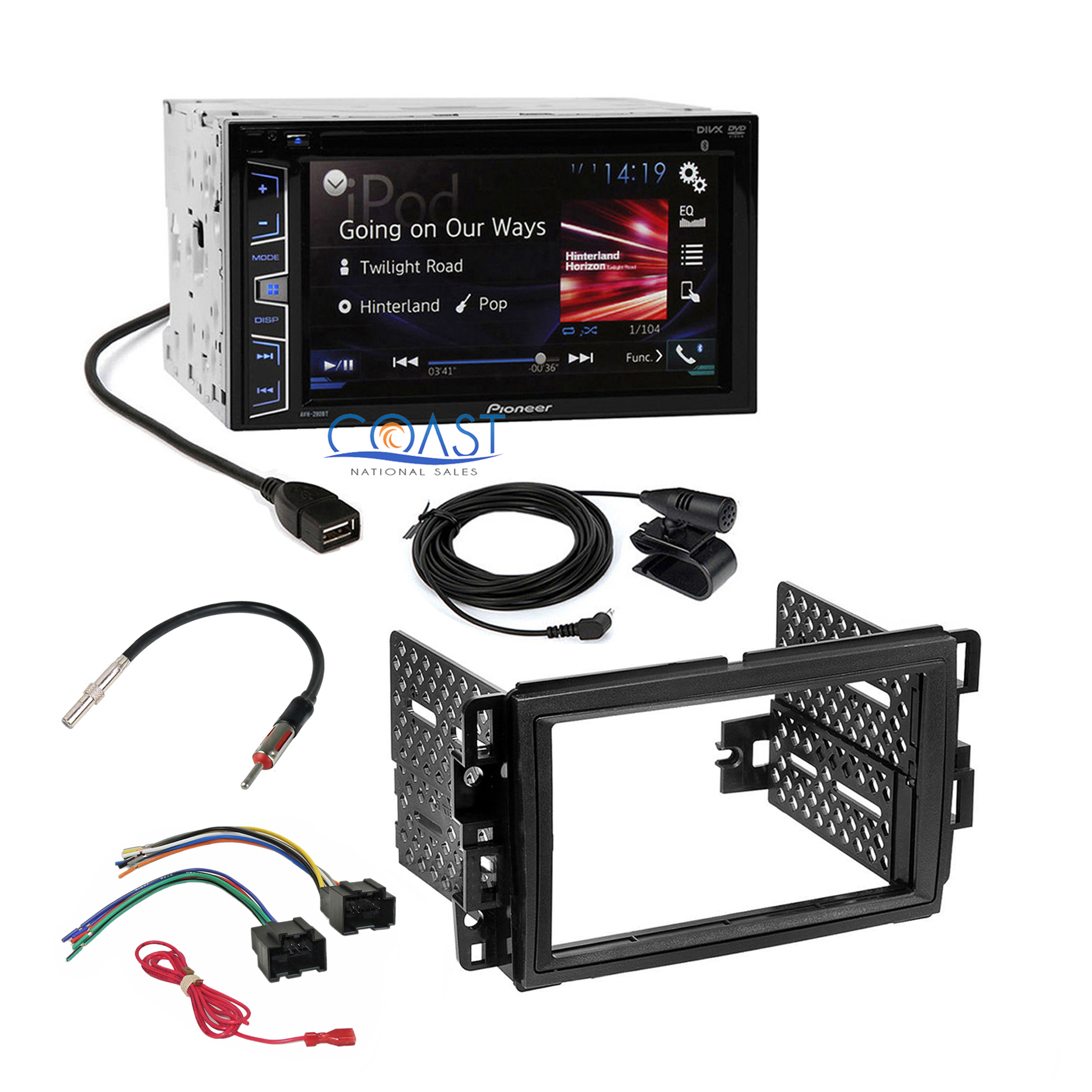 Pioneer 2016 Radio Stereo Dash Kit Harness For 06-up GM