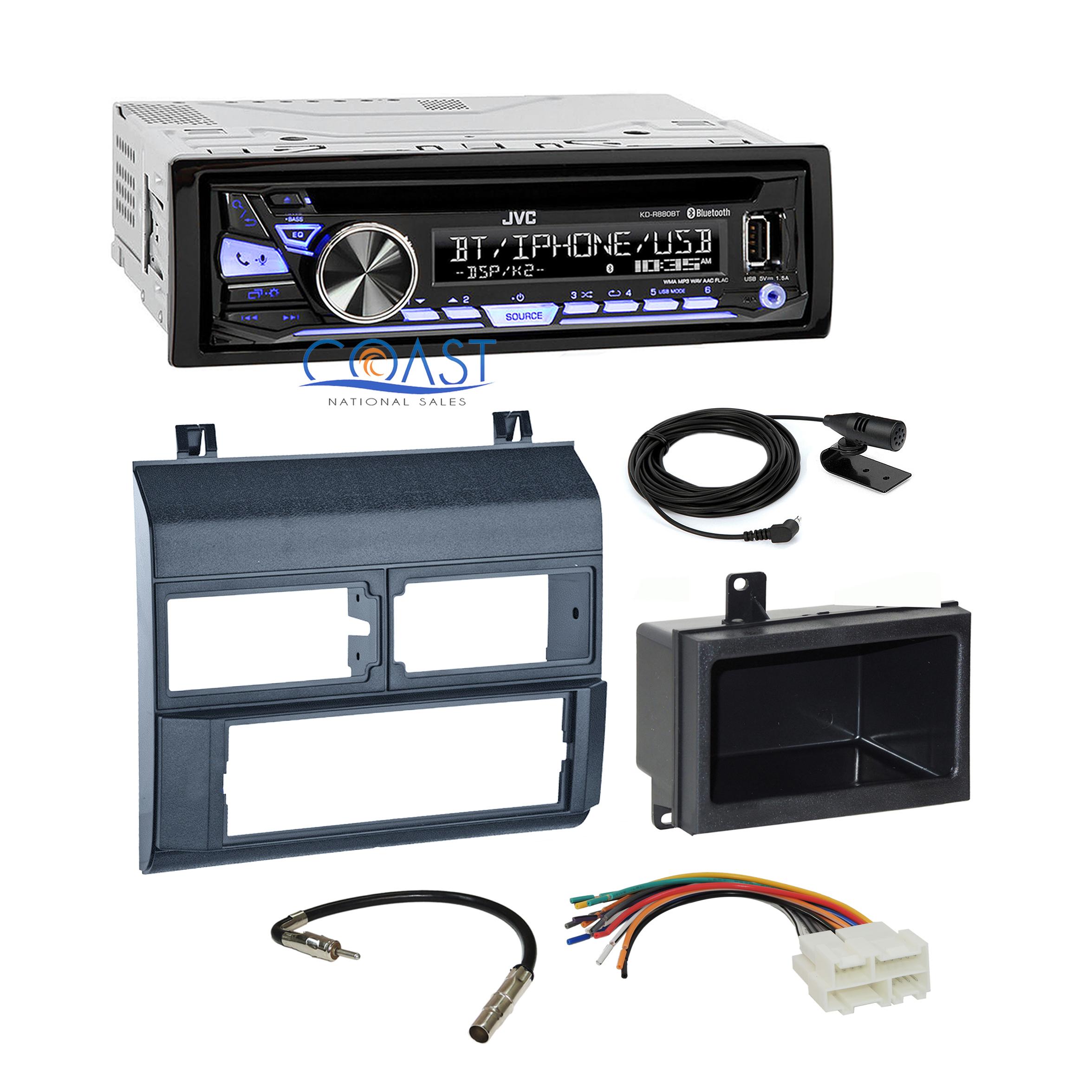 jvc bluetooth car stereo radio blue dash kit harness for. Black Bedroom Furniture Sets. Home Design Ideas