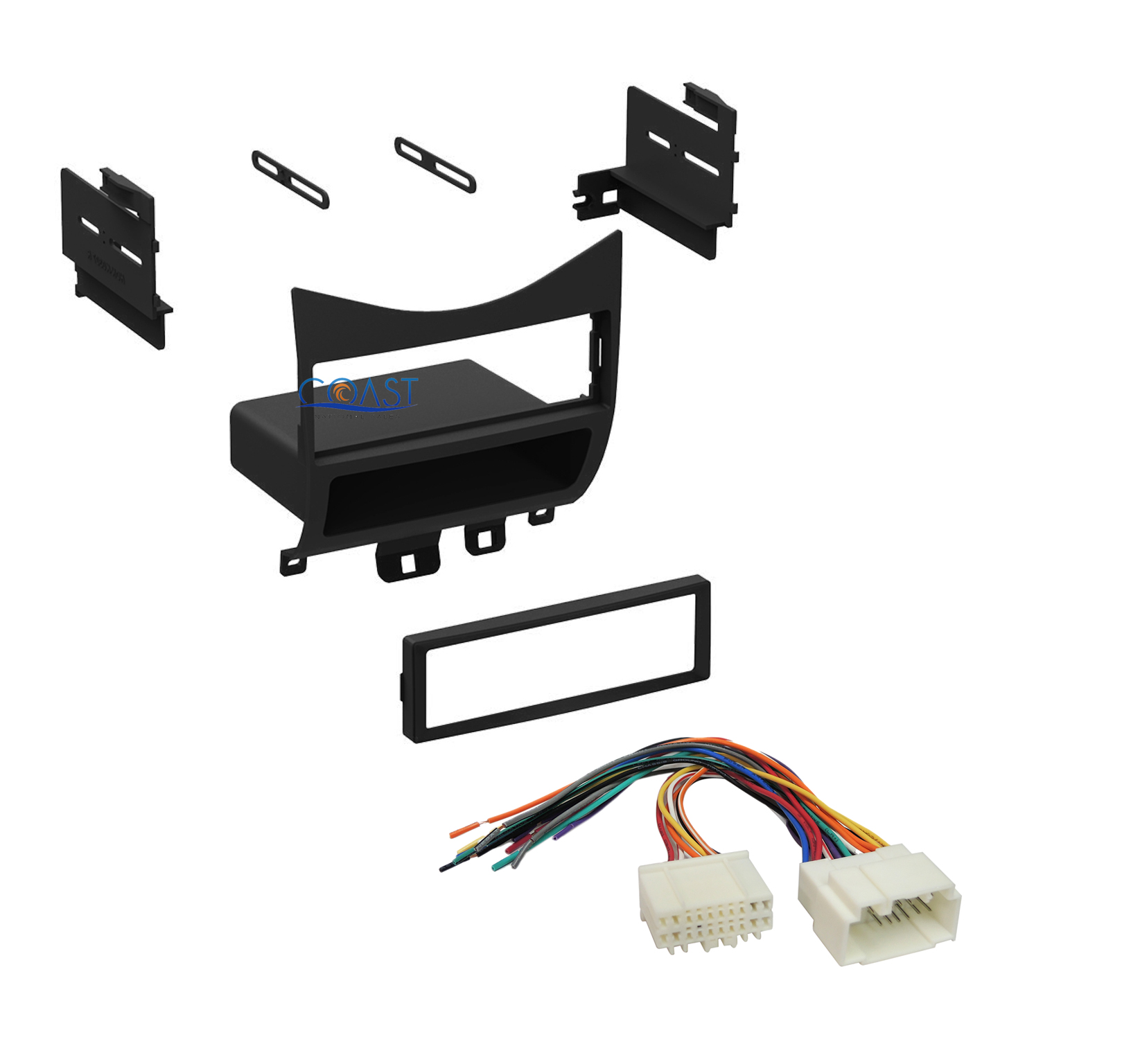 single din car radio stereo dash kit wire harness for 2003. Black Bedroom Furniture Sets. Home Design Ideas
