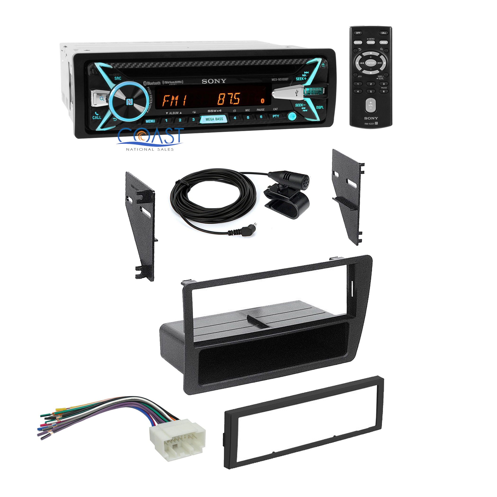 sony car radio stereo single din dash kit wire harness for. Black Bedroom Furniture Sets. Home Design Ideas