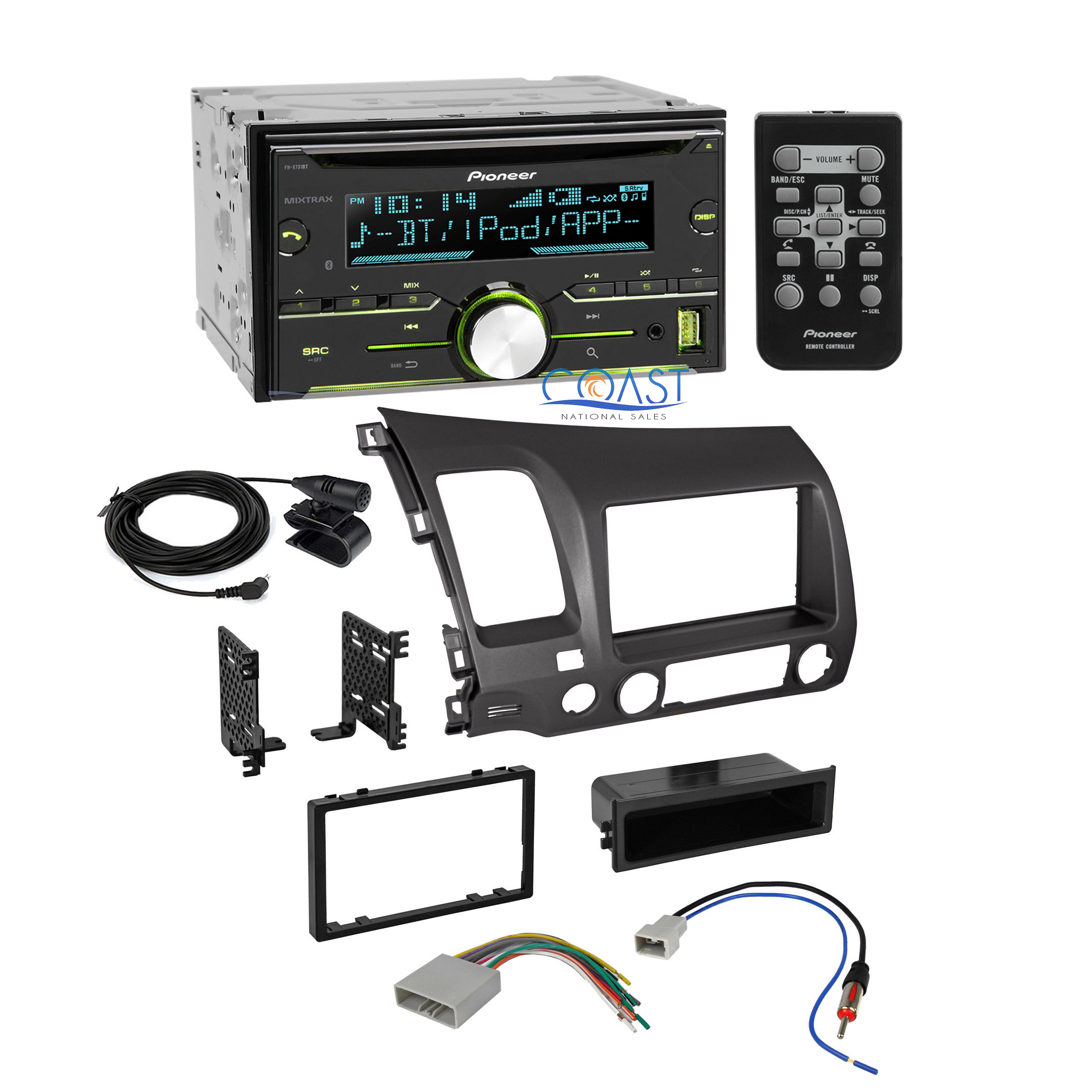 pioneer radio stereo dash kit wire harness antenna for 2006 2011 honda civic ebay