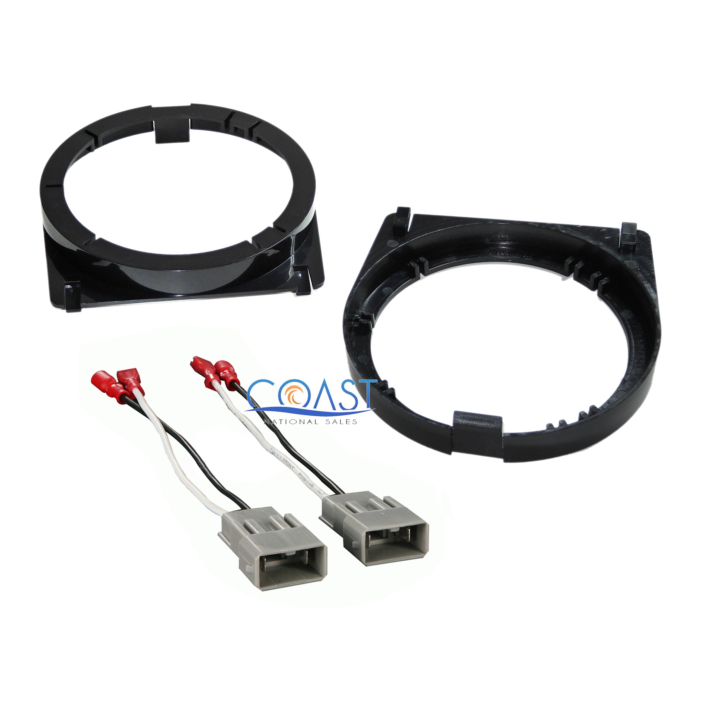 Front Door Speaker Adapter Bracket Plate  U0026 Wire Harness