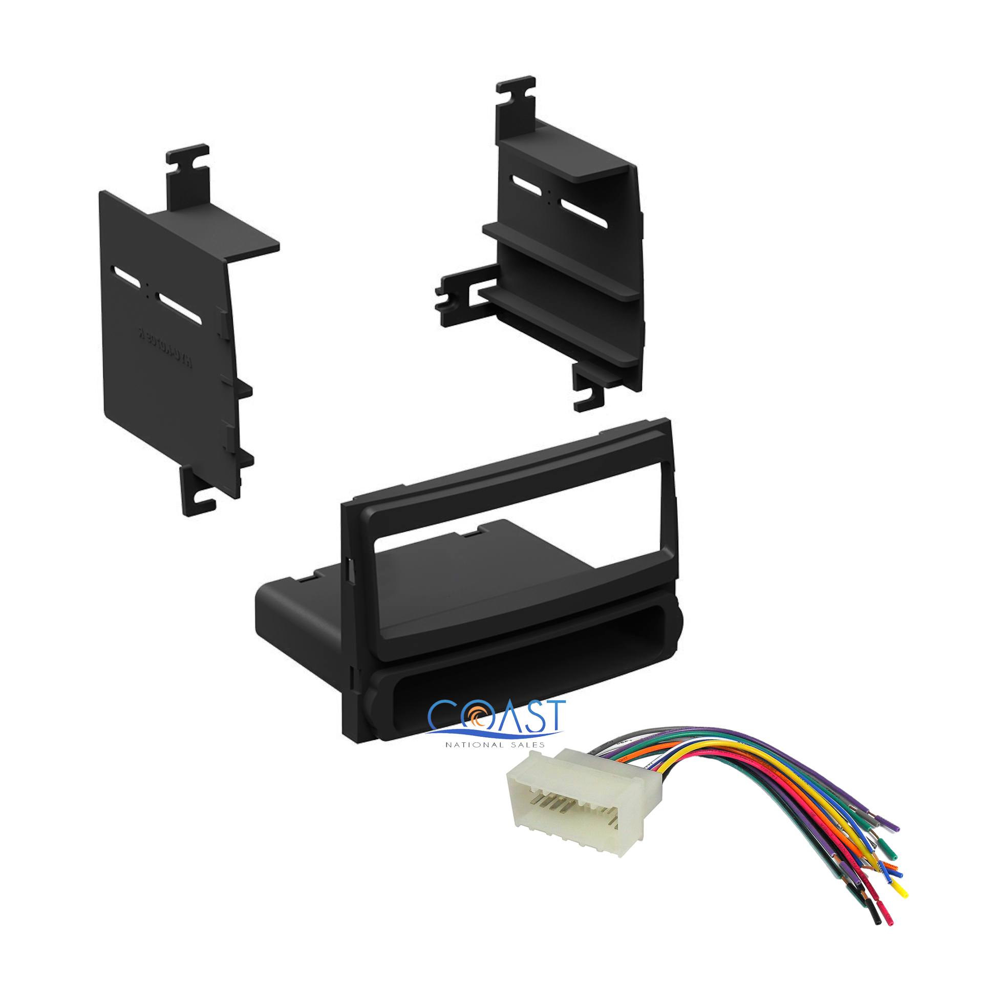 single din radio stereo dash kit w wire harness for 2007. Black Bedroom Furniture Sets. Home Design Ideas