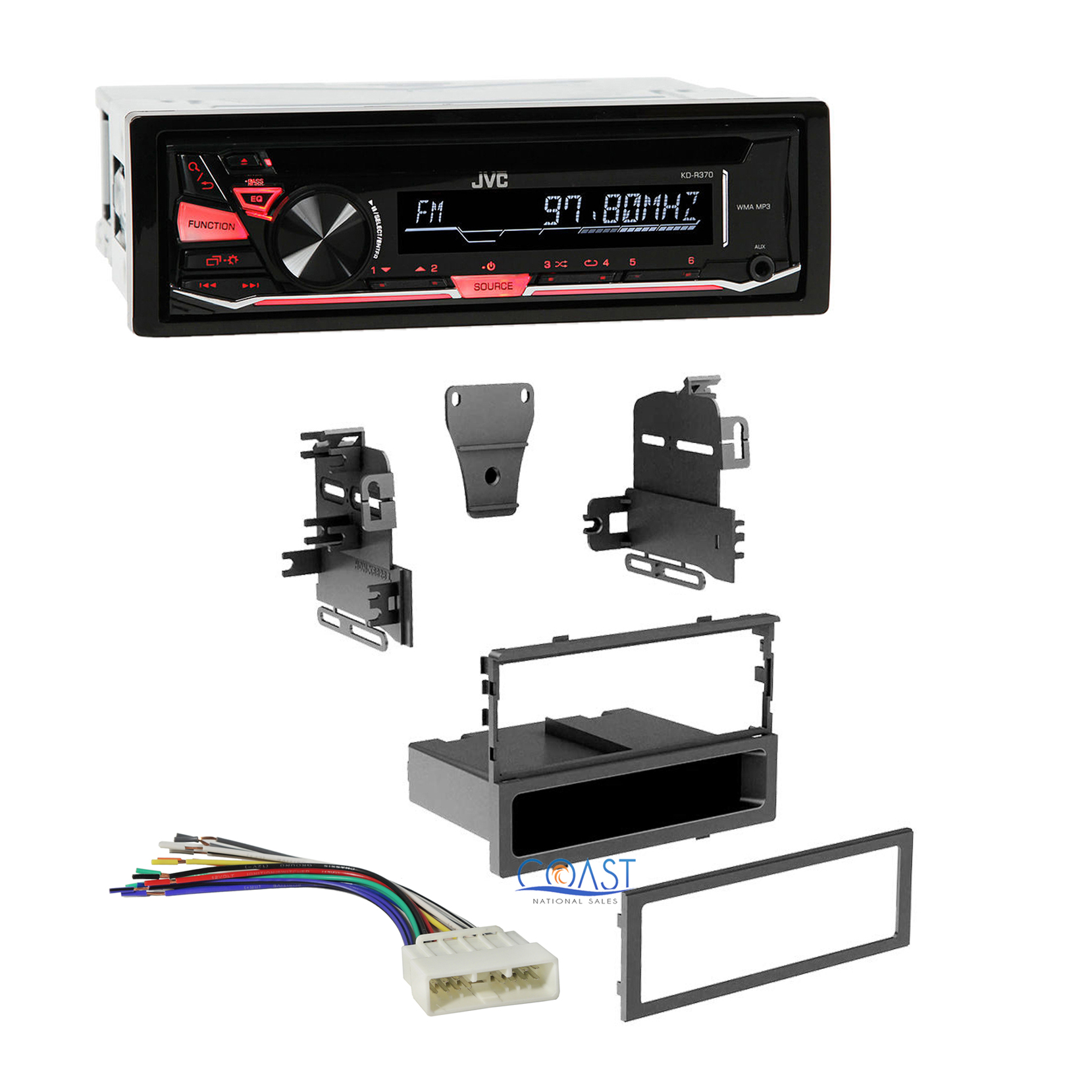 jvc car radio stereo single din dash kit harness for 1986 ... jvc car stereo wiring harness to 1999 malibu #3