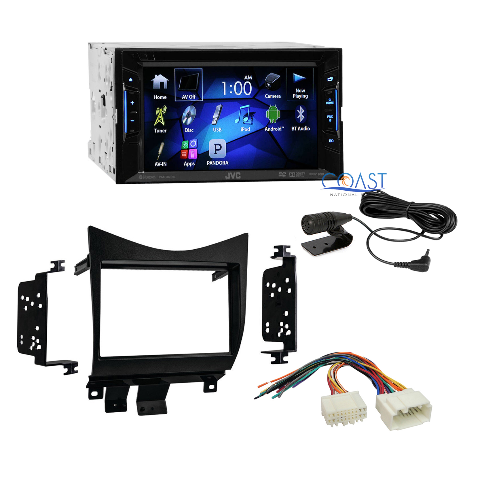 jvc car radio stereo double din dash kit harness for 2003. Black Bedroom Furniture Sets. Home Design Ideas