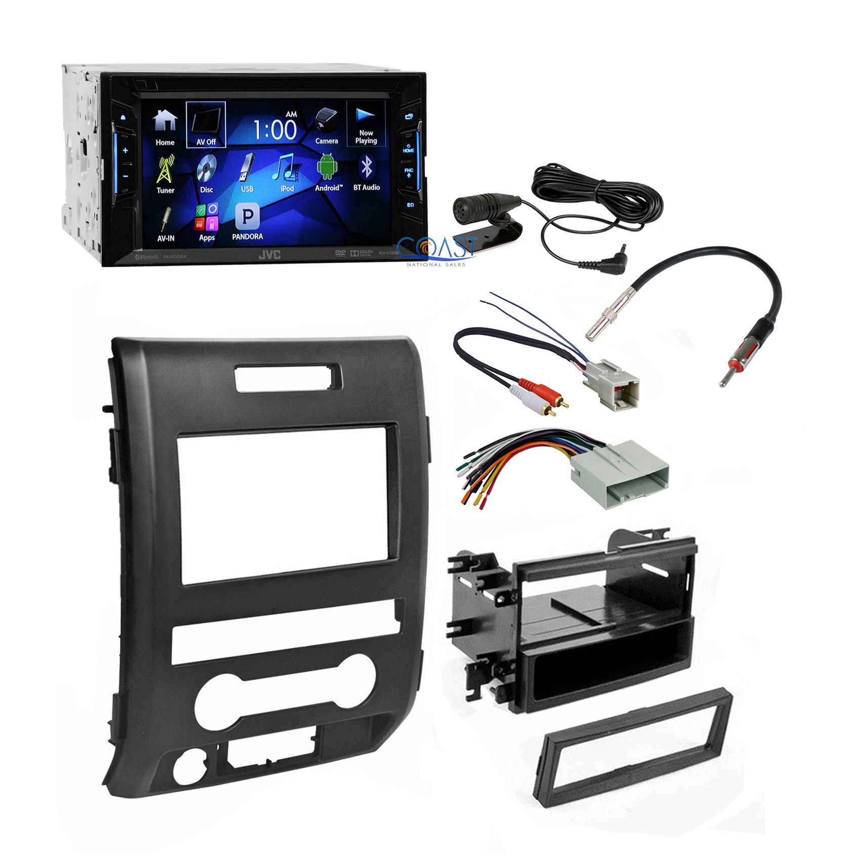 jvc car radio stereo double din dash kit harness antenna. Black Bedroom Furniture Sets. Home Design Ideas